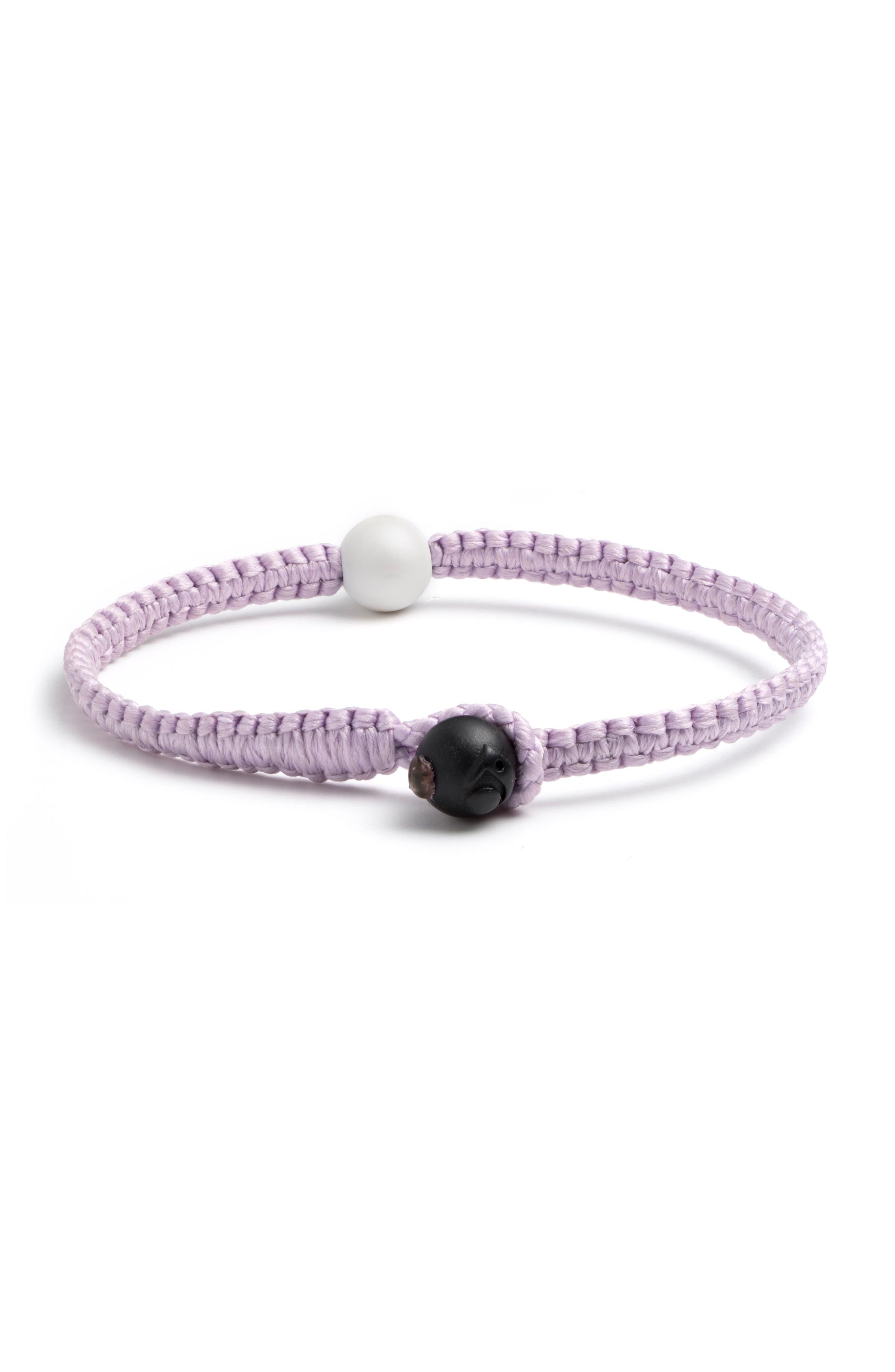 Single Wrap Bracelet,                         Main,                         color, Lilac