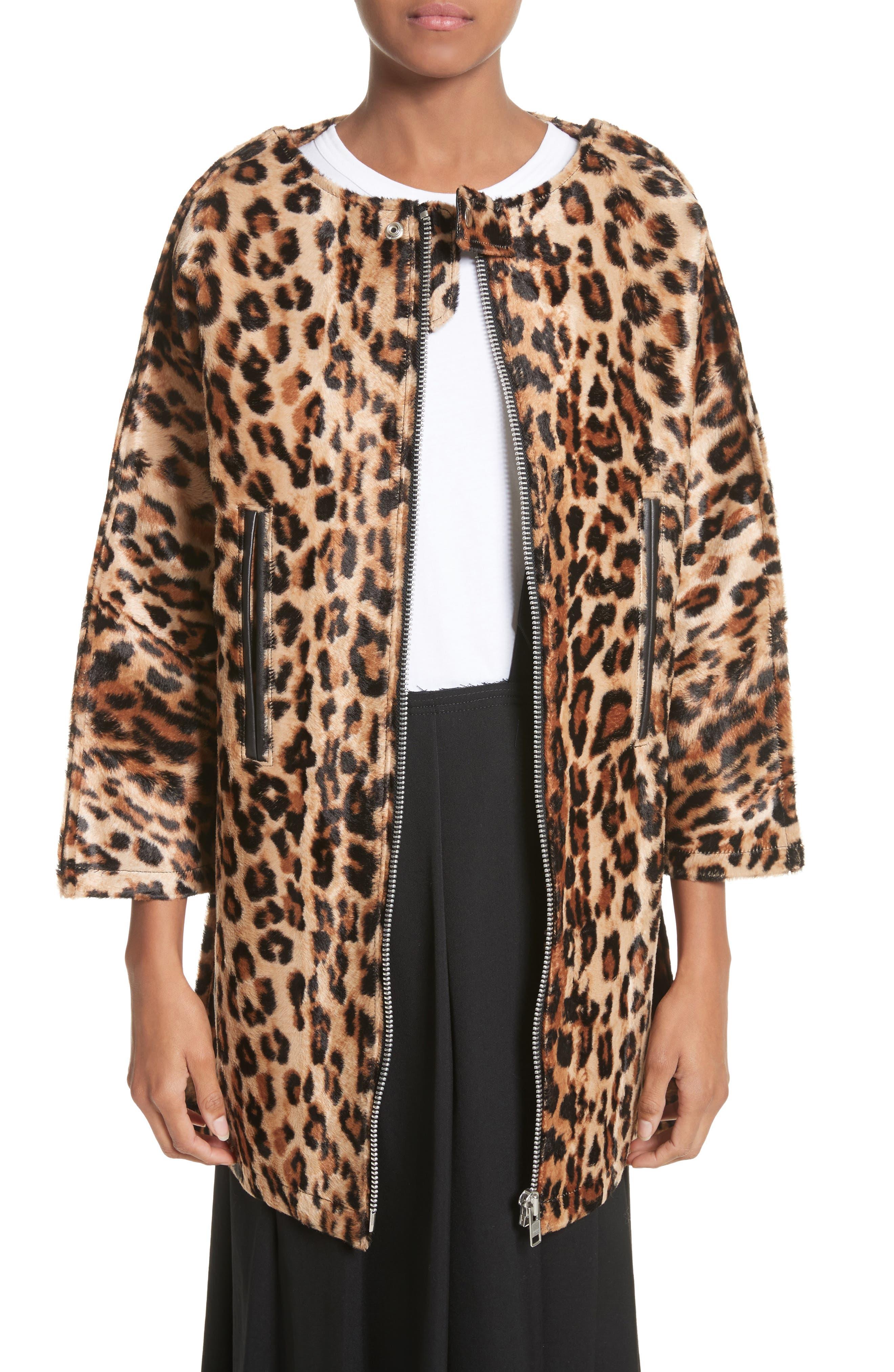 Junya Watanabe Leopard Print Faux Fur Coat