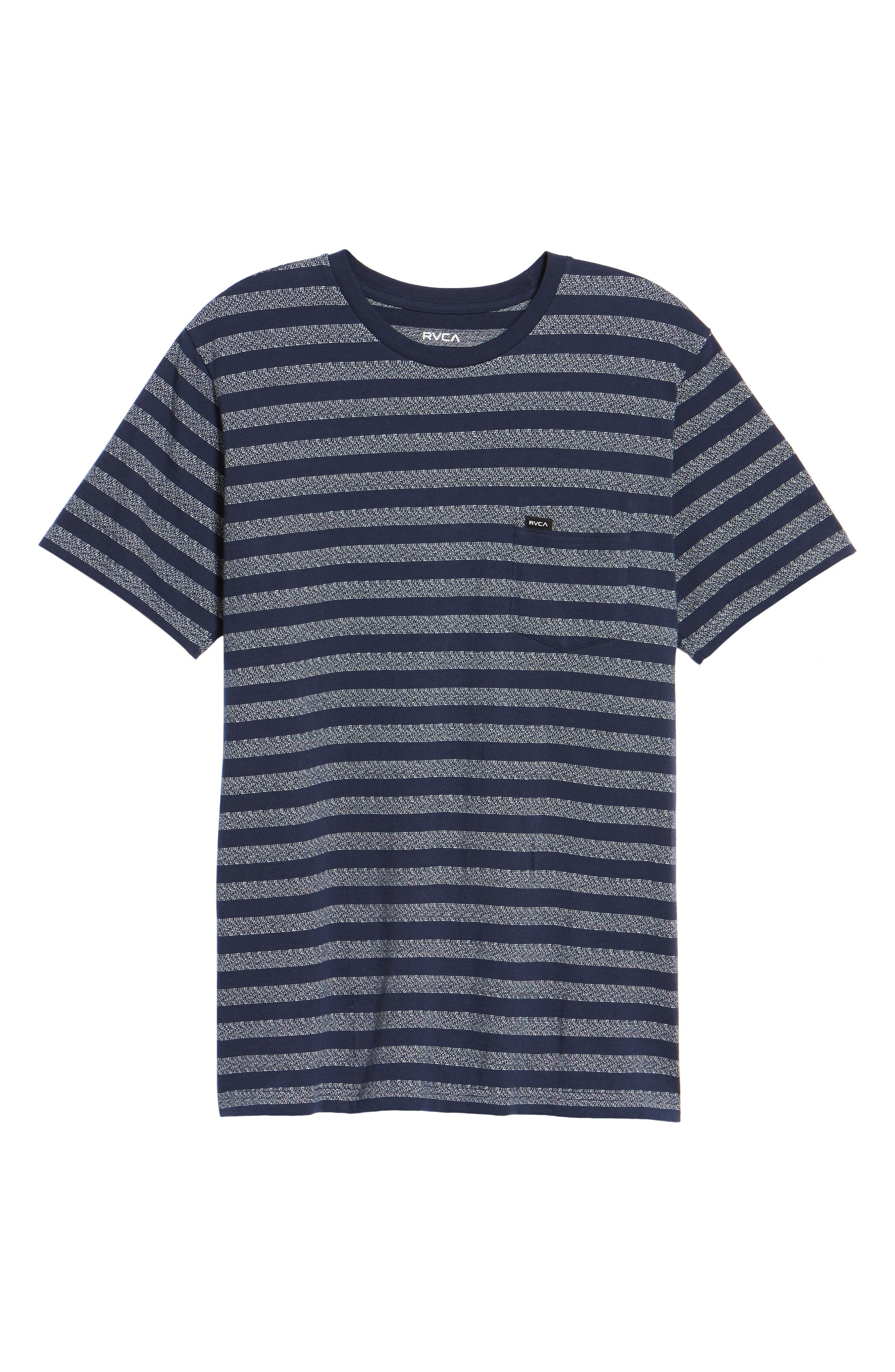 What's Shakin' Stripe T-Shirt,                             Alternate thumbnail 6, color,                             Federal Blue