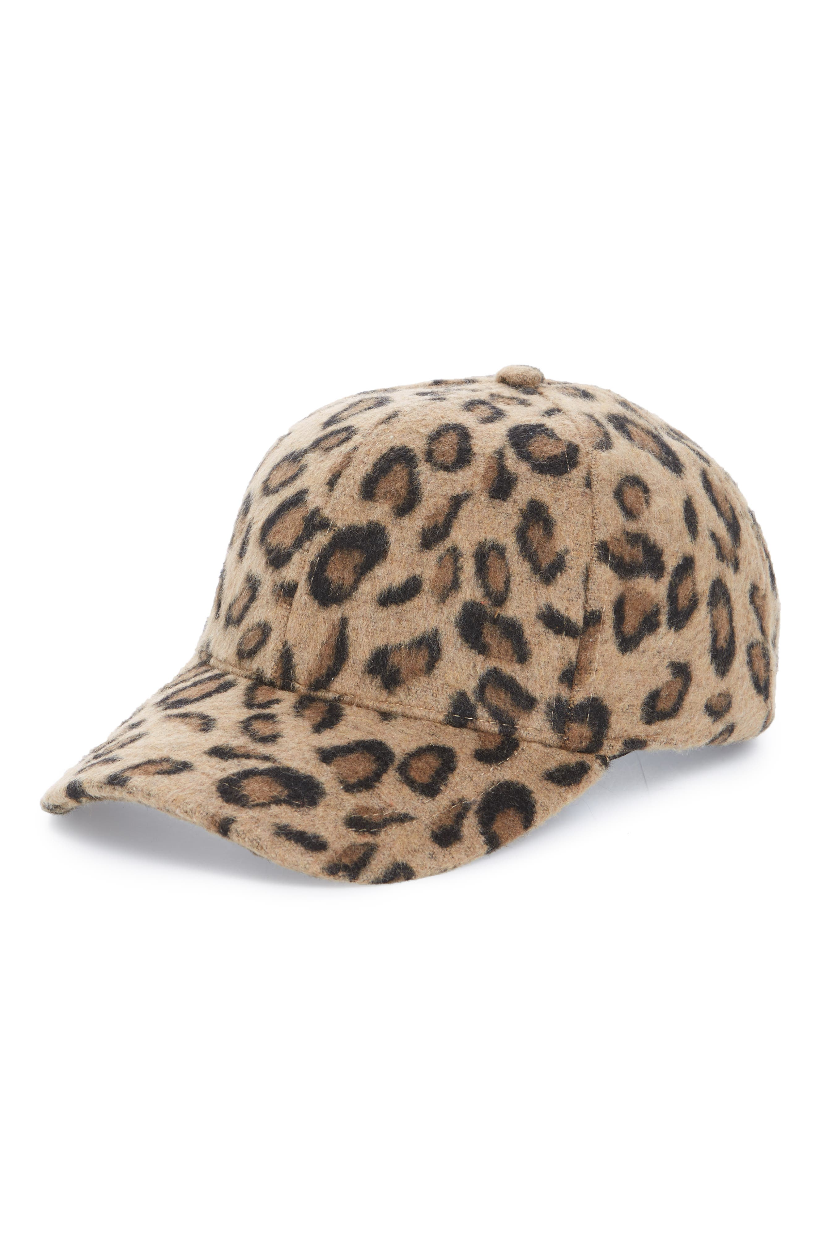BP. Textured Leopard Print Baseball Cap