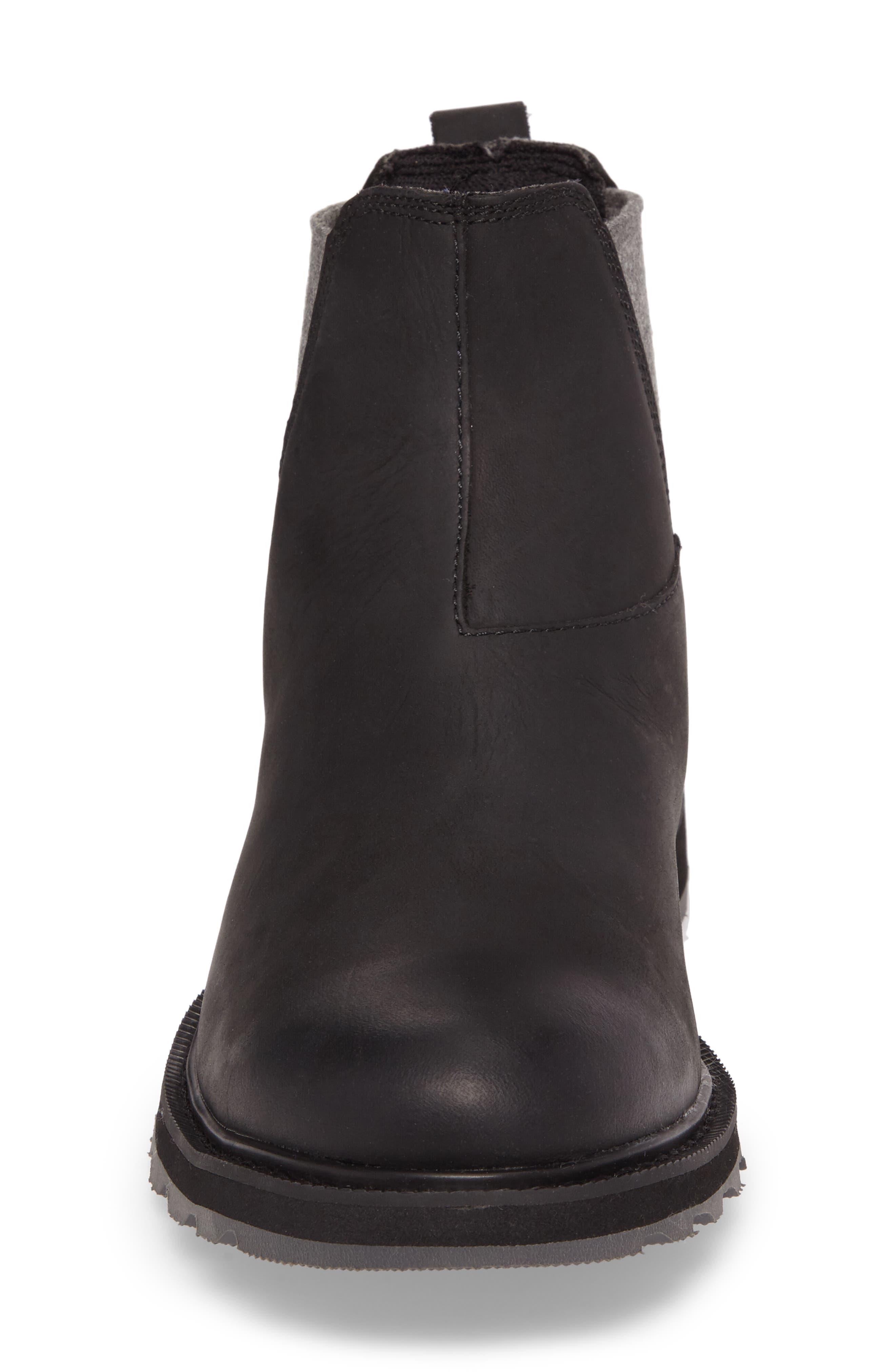 Madson Waterproof Chelsea Boot,                             Alternate thumbnail 4, color,                             Black