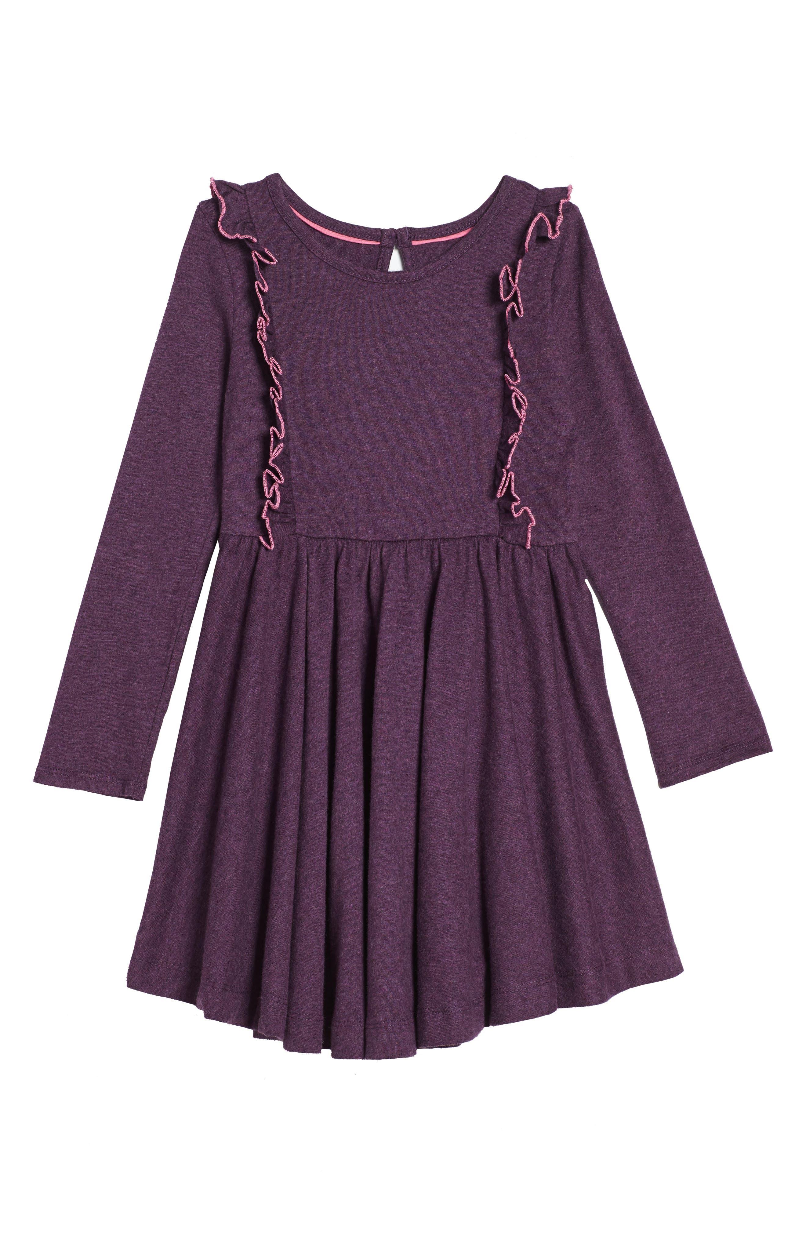 Mini Boden Ruffle Jersey Dress (Toddler Girls, Little Girls & Big Girls)