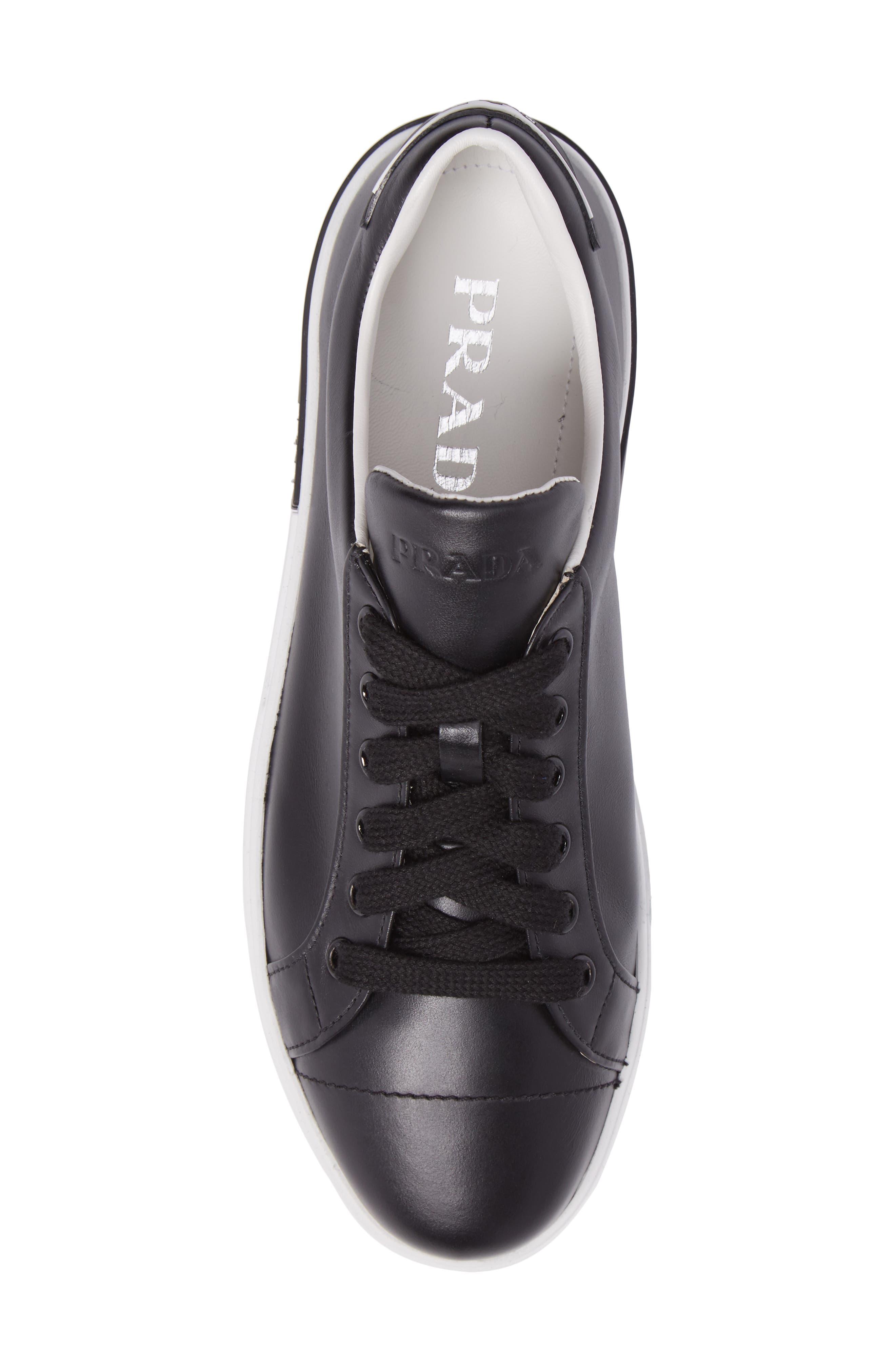 Logo Low Top Sneaker,                             Alternate thumbnail 5, color,                             Black/ White