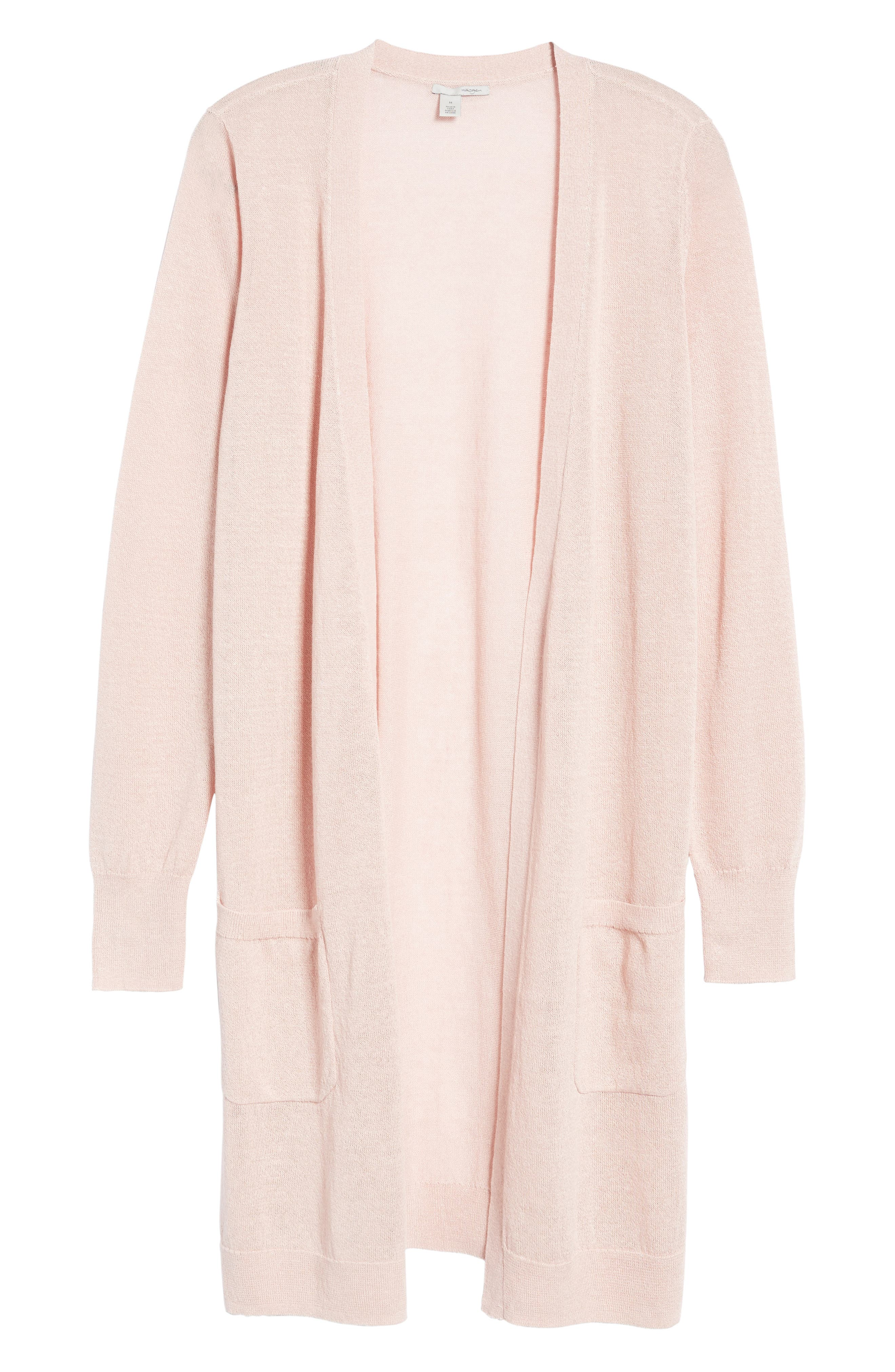 Alternate Image 6  - Halogen® Long Linen Blend Cardigan (Regular & Petite)