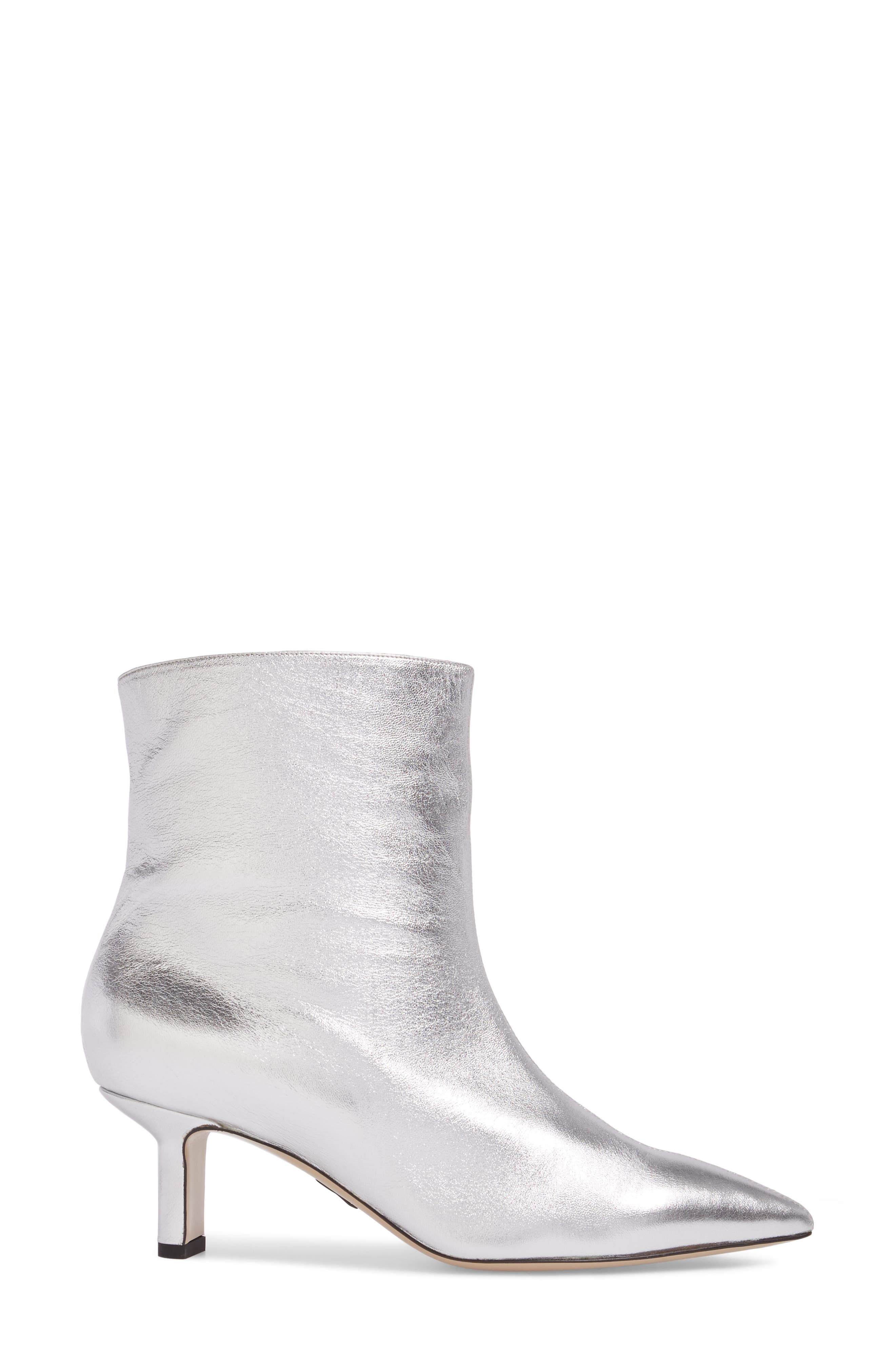 Mangold Pointy Toe Boot,                             Alternate thumbnail 3, color,                             Silver
