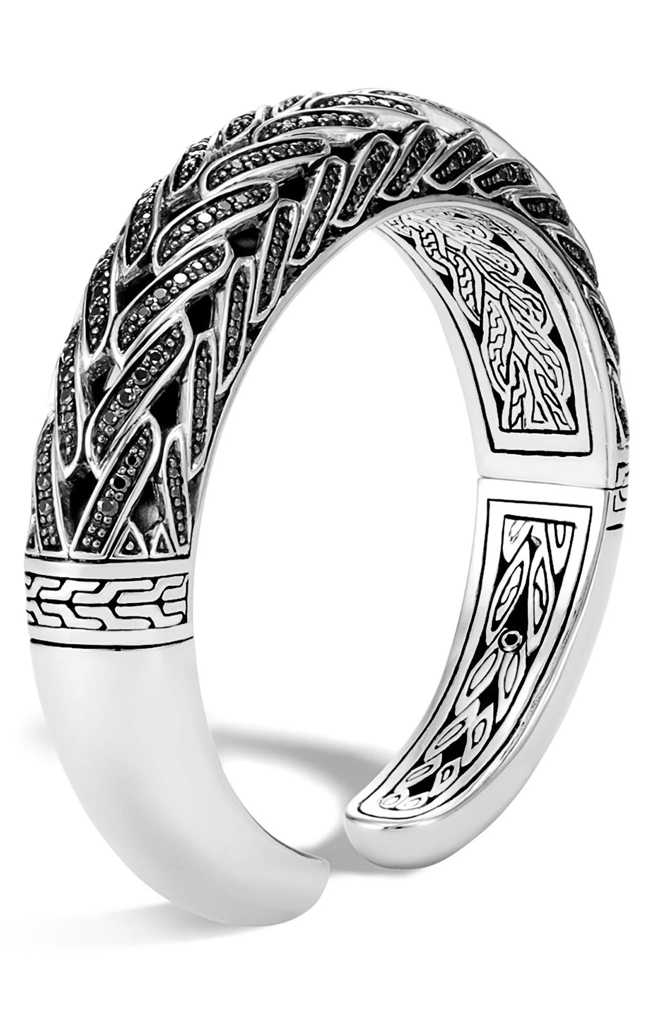 Classic Chain Spinel Bracelet,                             Alternate thumbnail 2, color,                             Silver/ Black Sapphire
