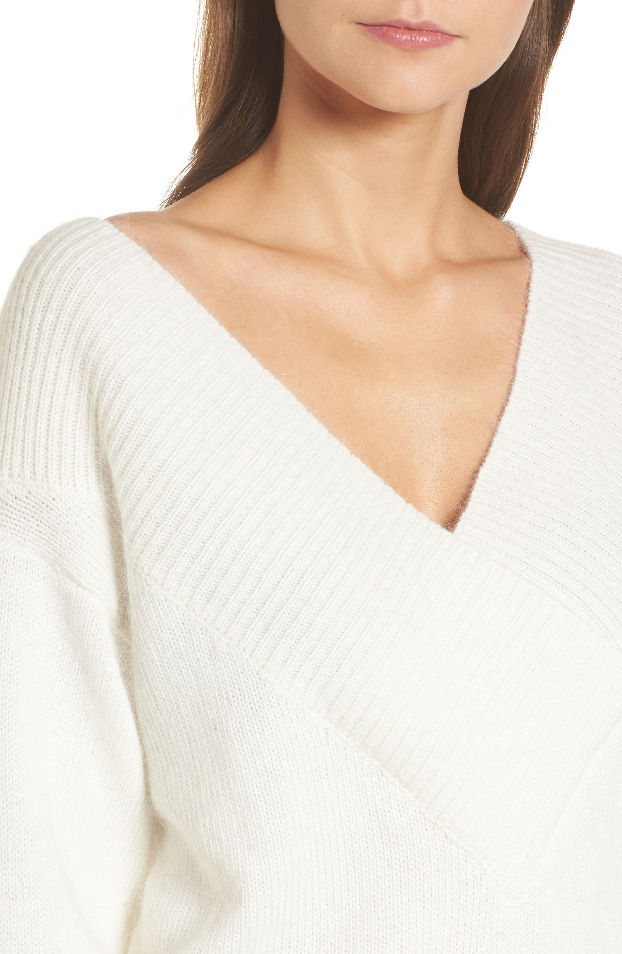 Alternate Image 4  - 4SI3NNA Portrait Neck Sweater