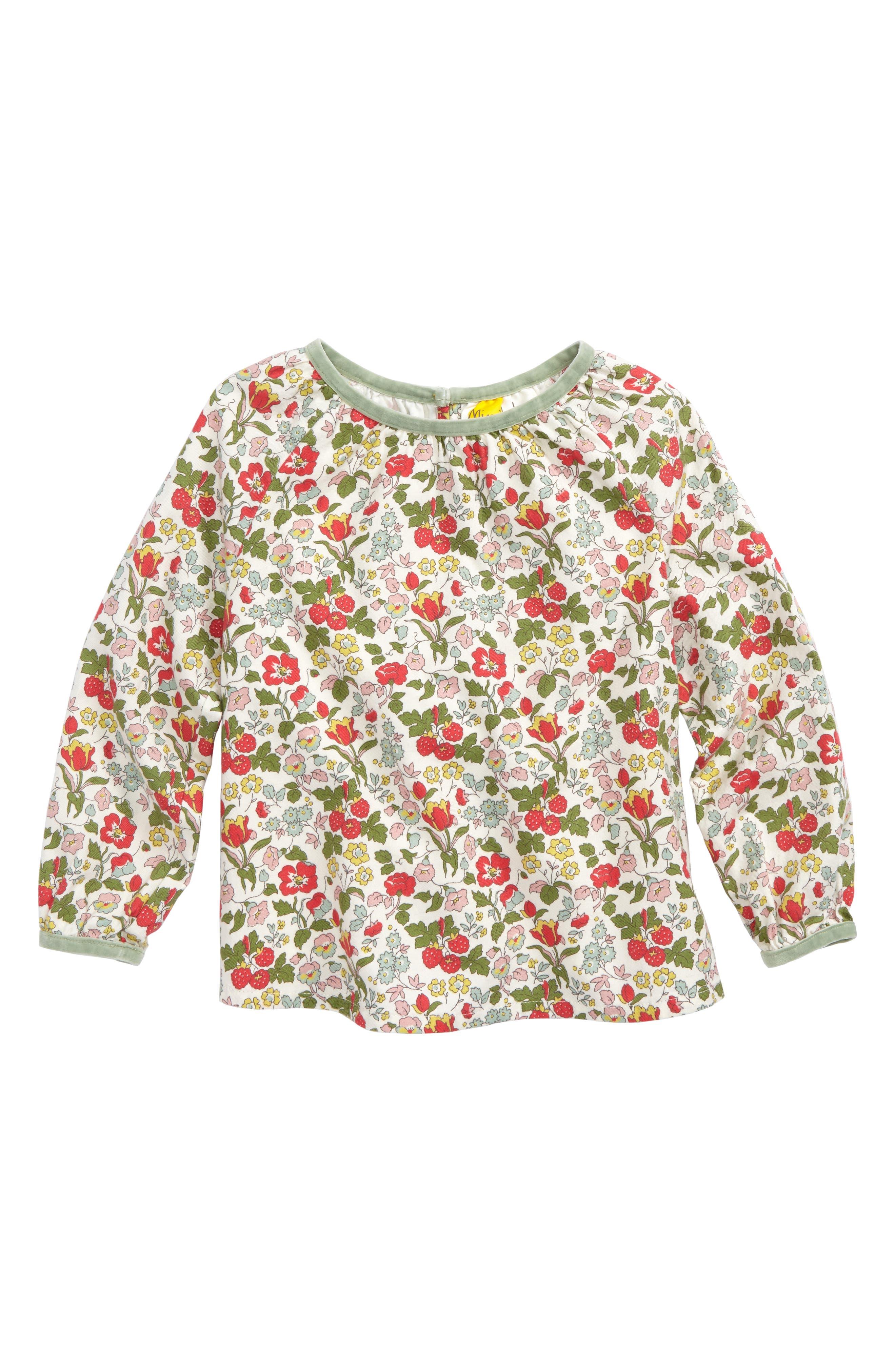 Mini Boden Cosy Woven Top (Toddler Girls, Little Girls & Big Girls)