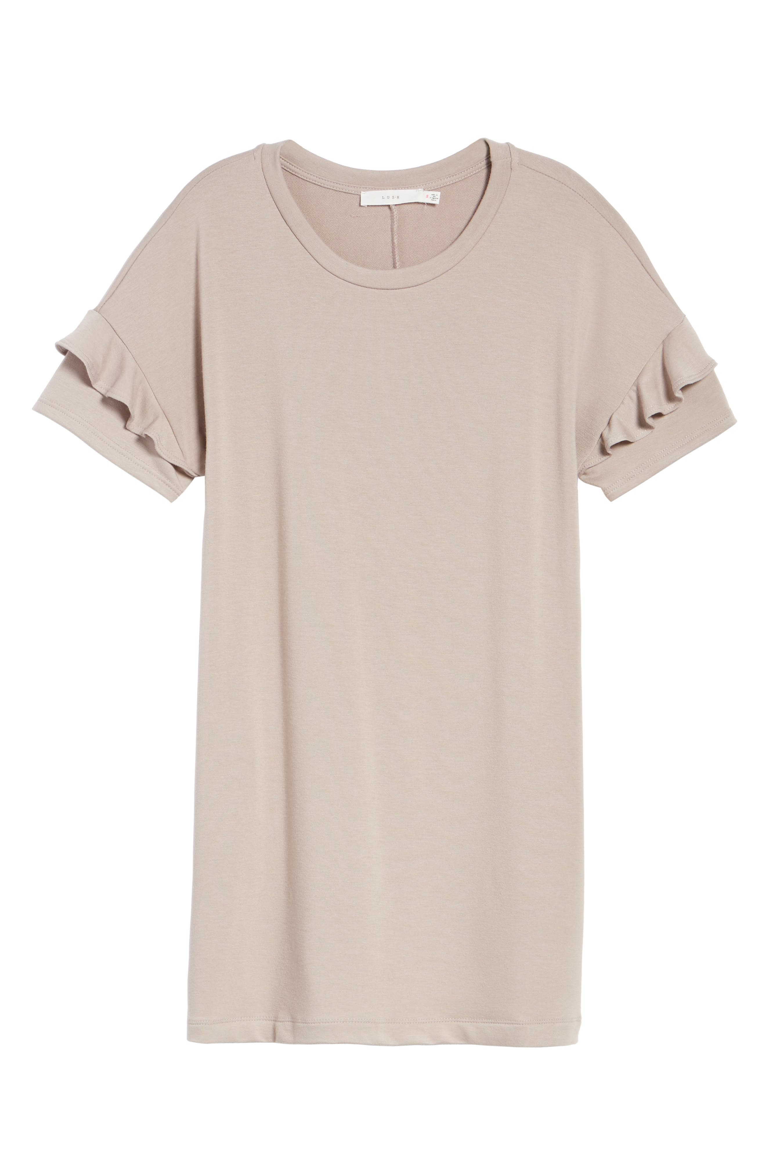 Alternate Image 6  - Ruffle Sleeve T-Shirt Dress