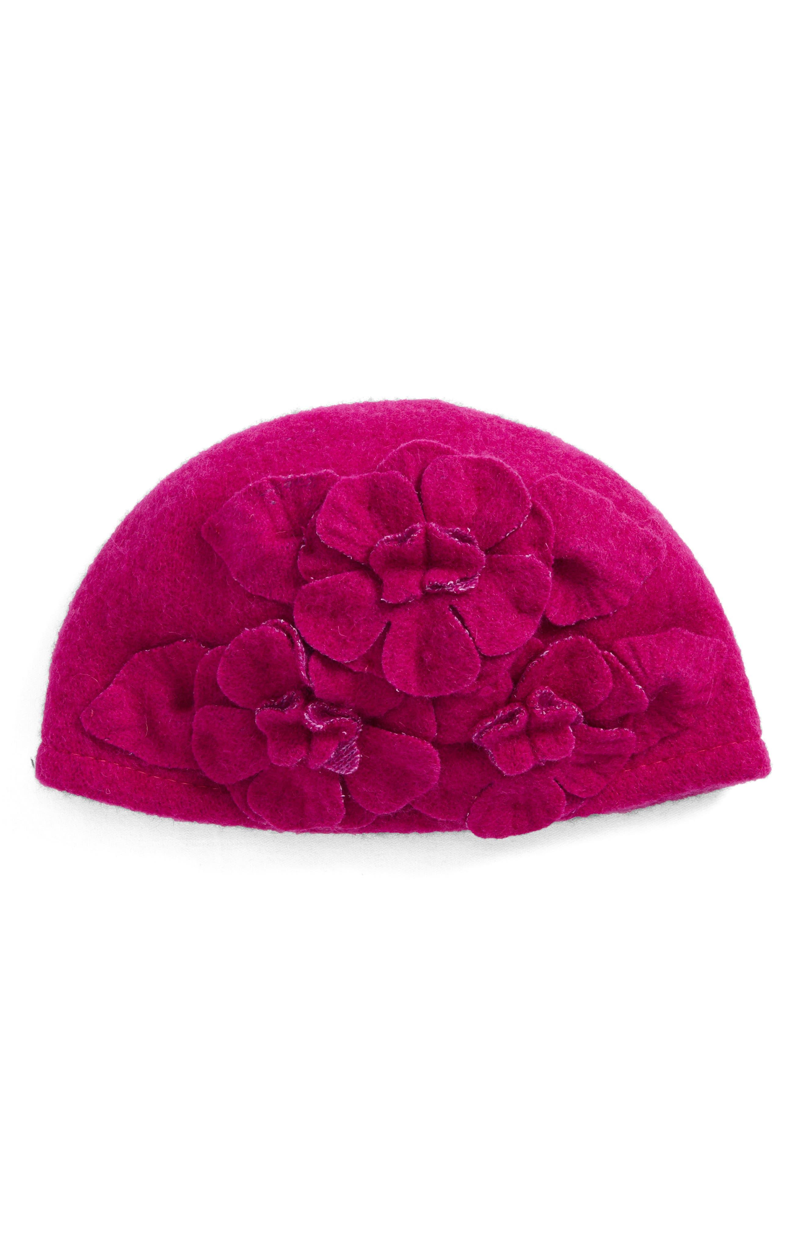 Main Image - Helene BermanFloral Embellished Cap