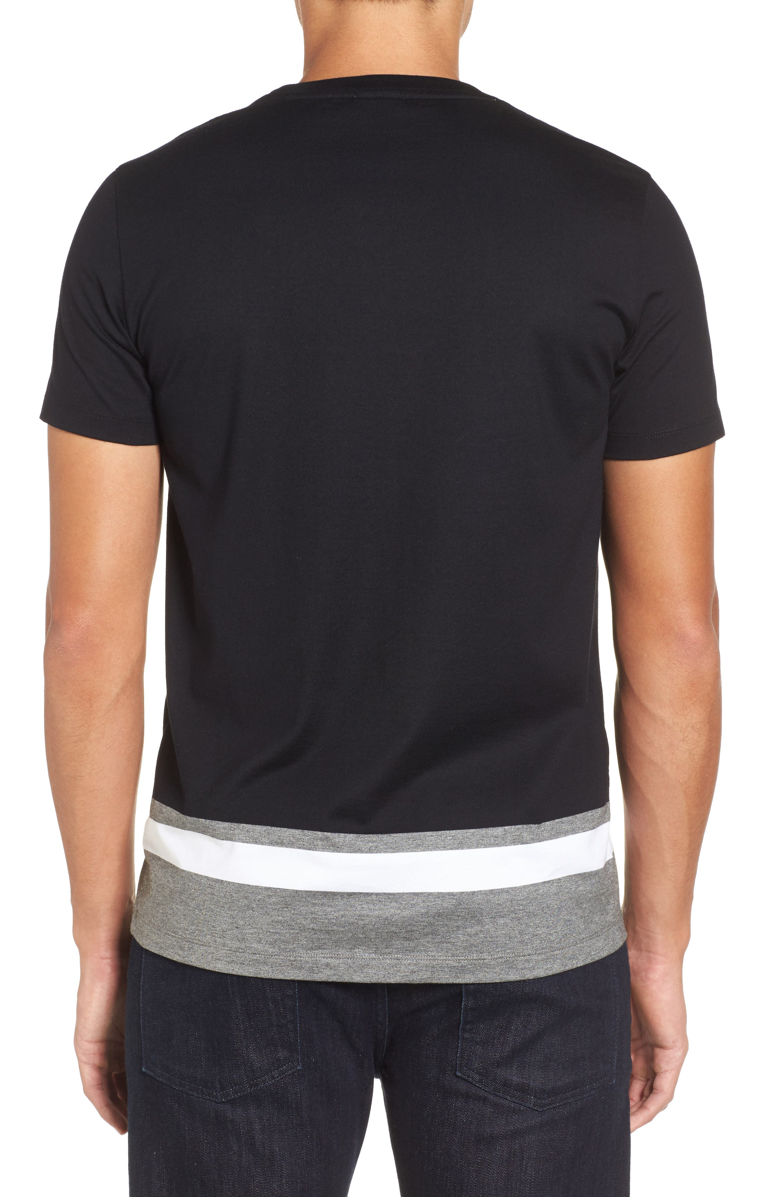 Tiburt Colorblock T-Shirt,                             Alternate thumbnail 2, color,                             Black