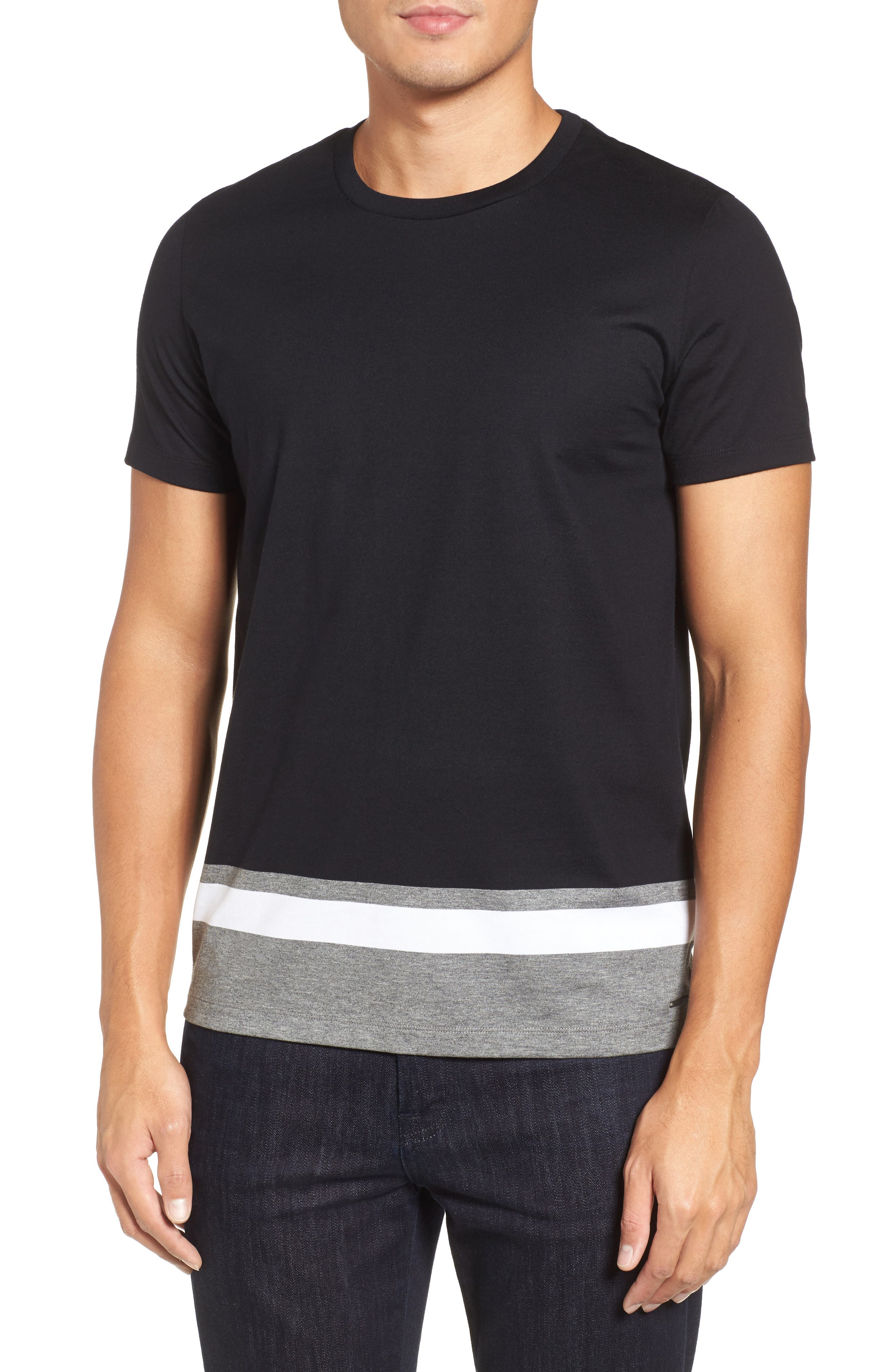 Tiburt Colorblock T-Shirt,                             Main thumbnail 1, color,                             Black