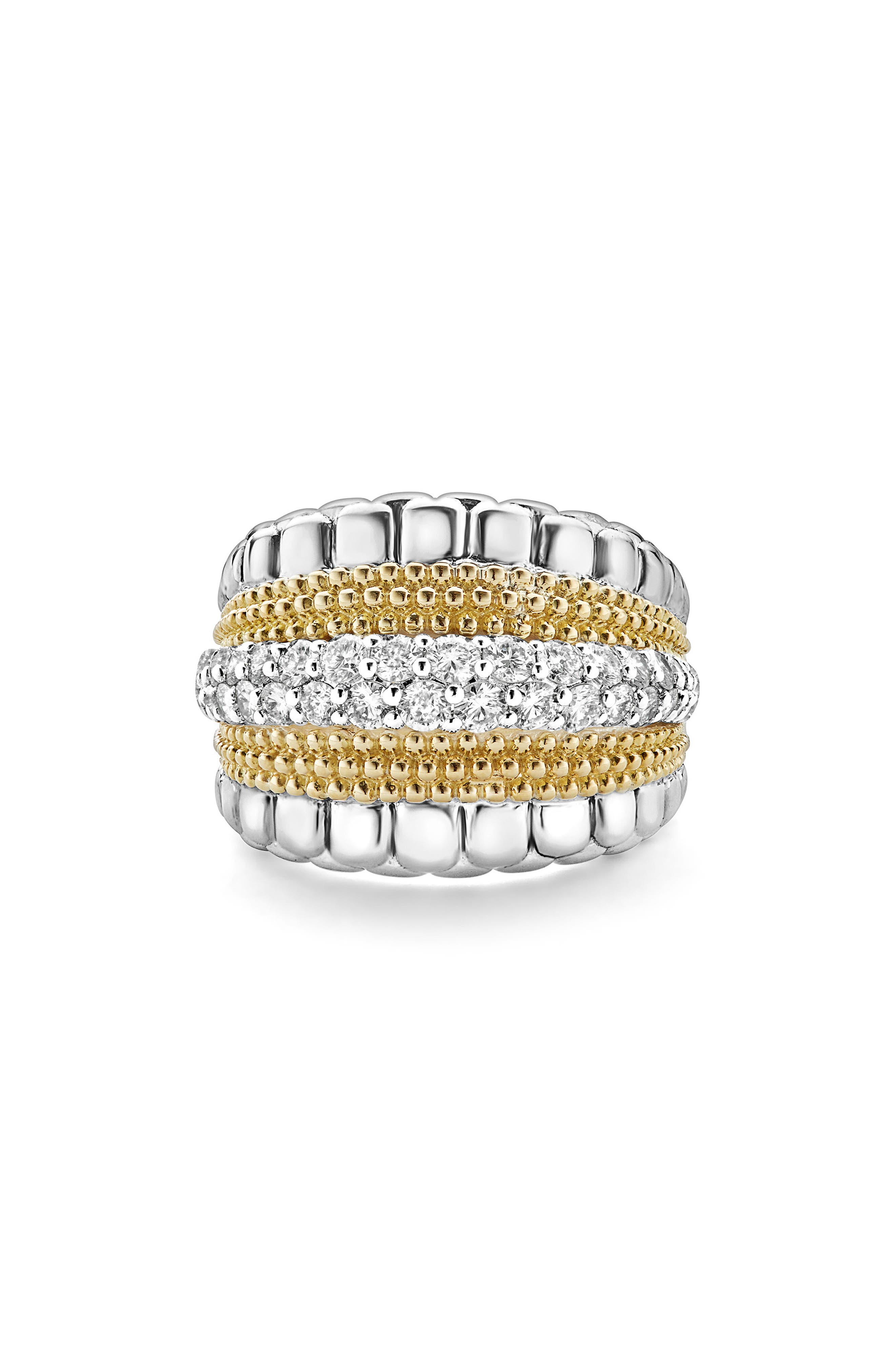 Diamond Lux Ring,                             Alternate thumbnail 5, color,                             Diamond