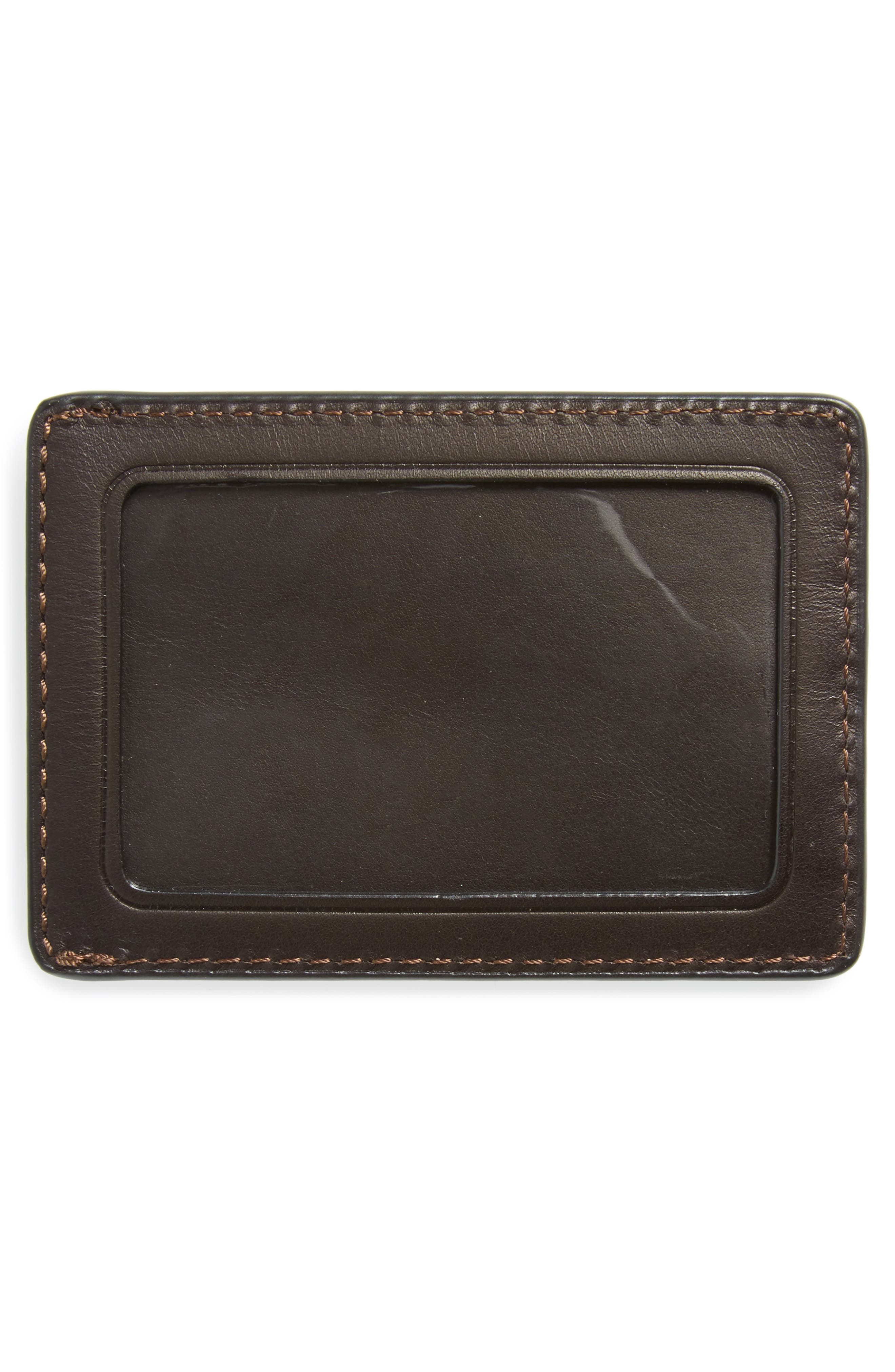 Oliver Leather Card Case,                             Alternate thumbnail 2, color,                             Dark Brown