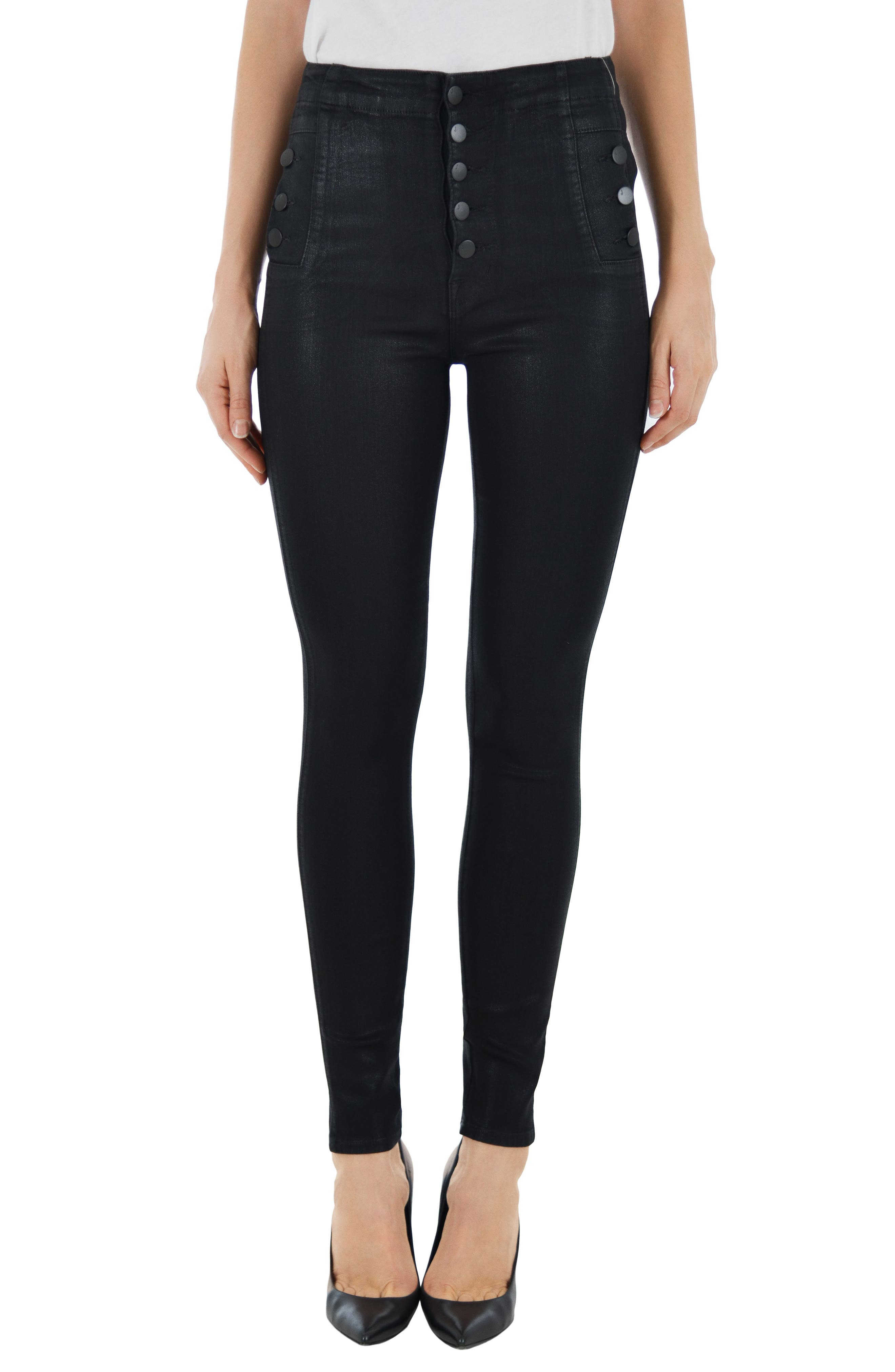 Main Image - J Brand Natasha Sky High Skinny Jeans (Fearless)