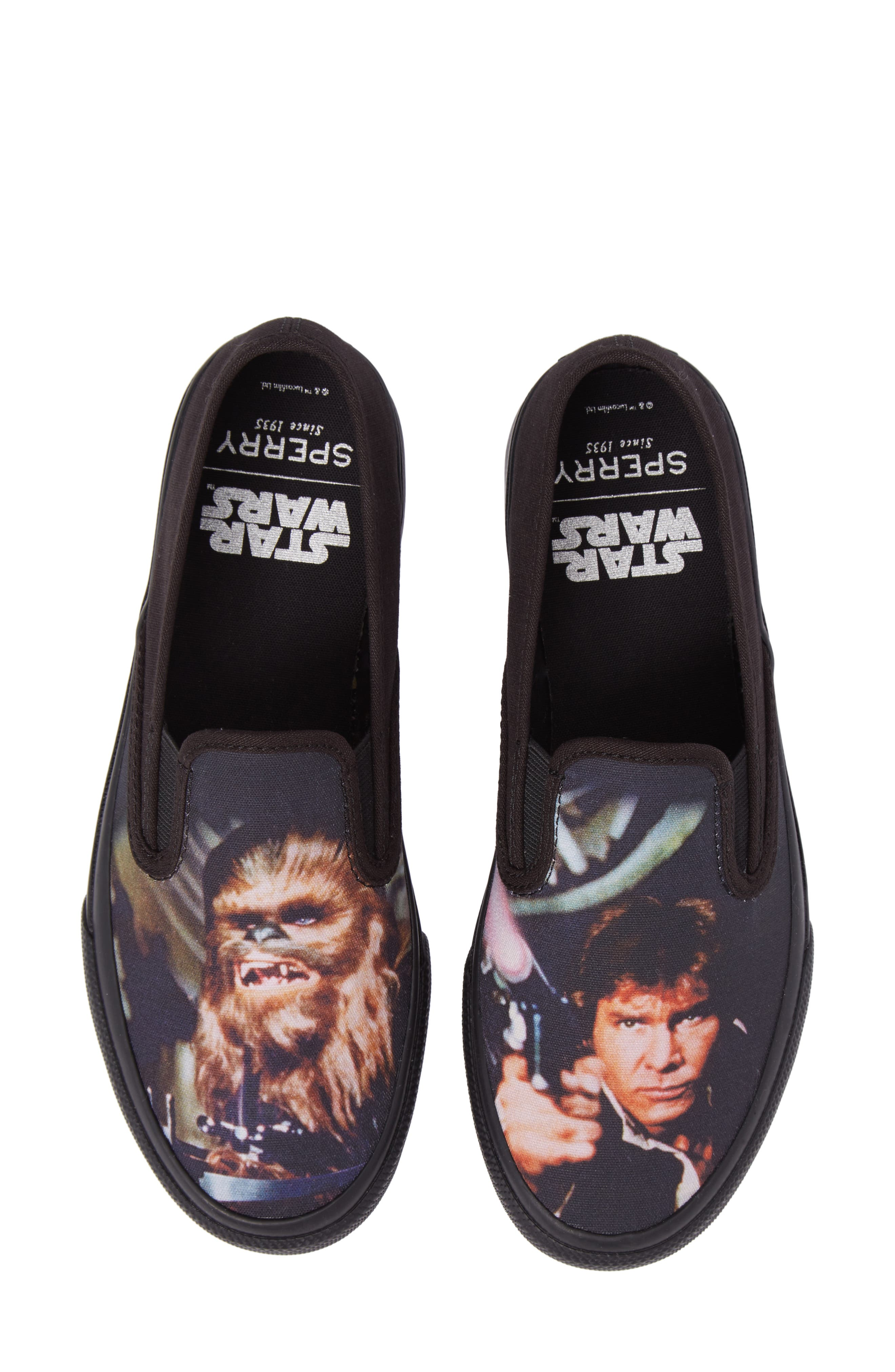 Star Wars - Chewie & Han Slip-On,                             Main thumbnail 1, color,                             Black/ Multi