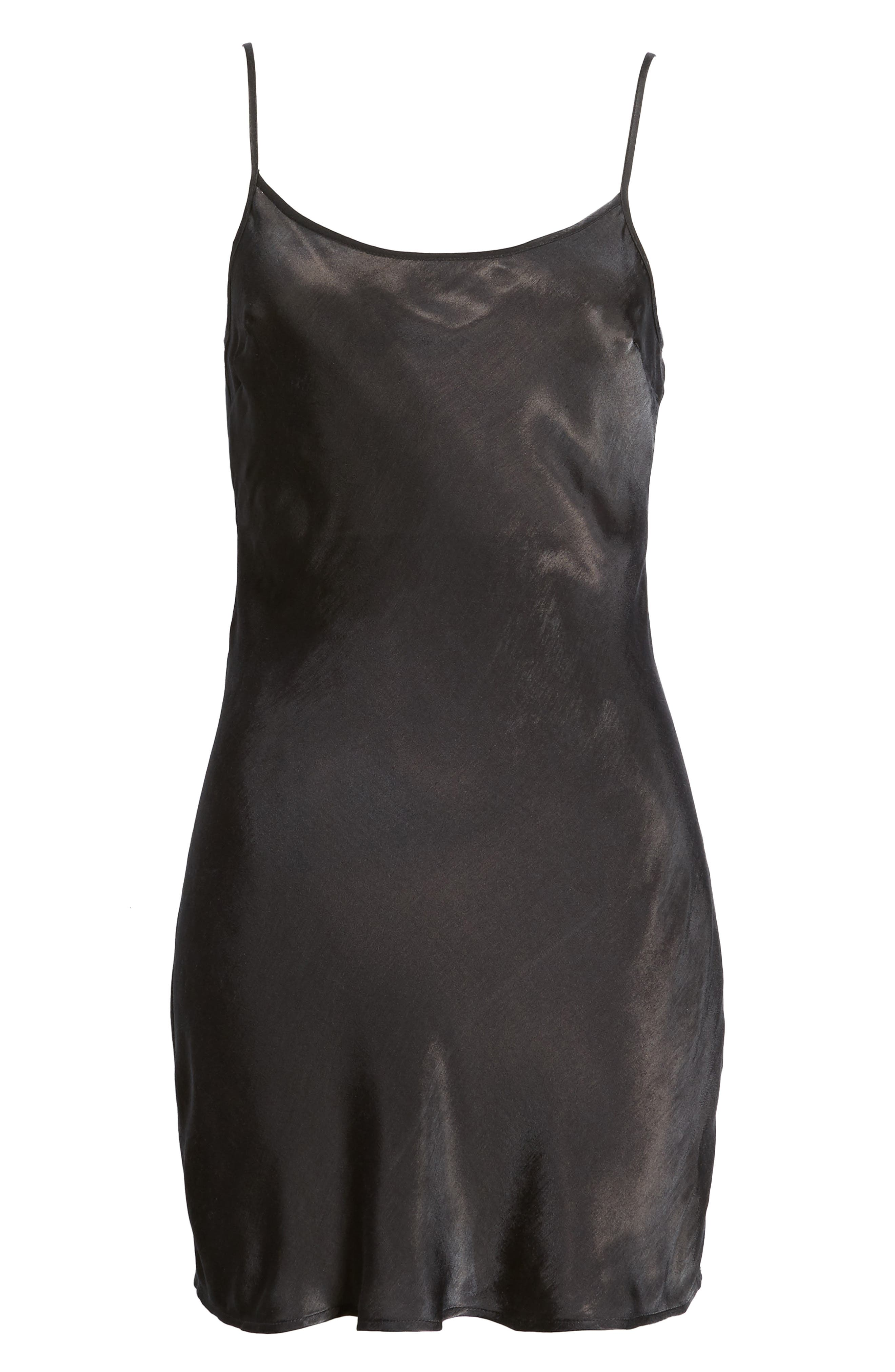 La Cienega Slipdress,                             Alternate thumbnail 6, color,                             Onyx