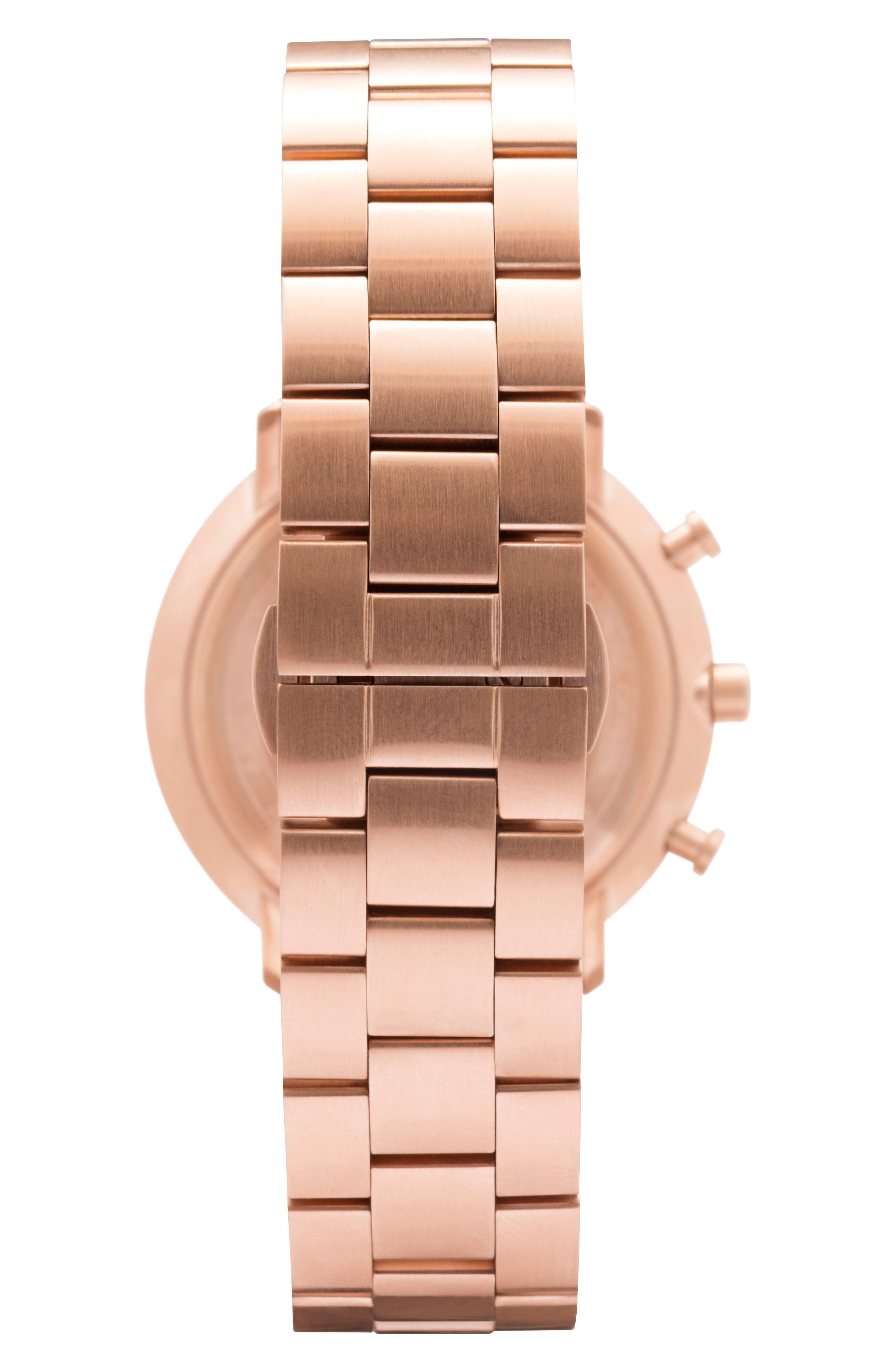 Alternate Image 3  - Leonard & Church Bleeker Chronograph Bracelet Watch, 40mm