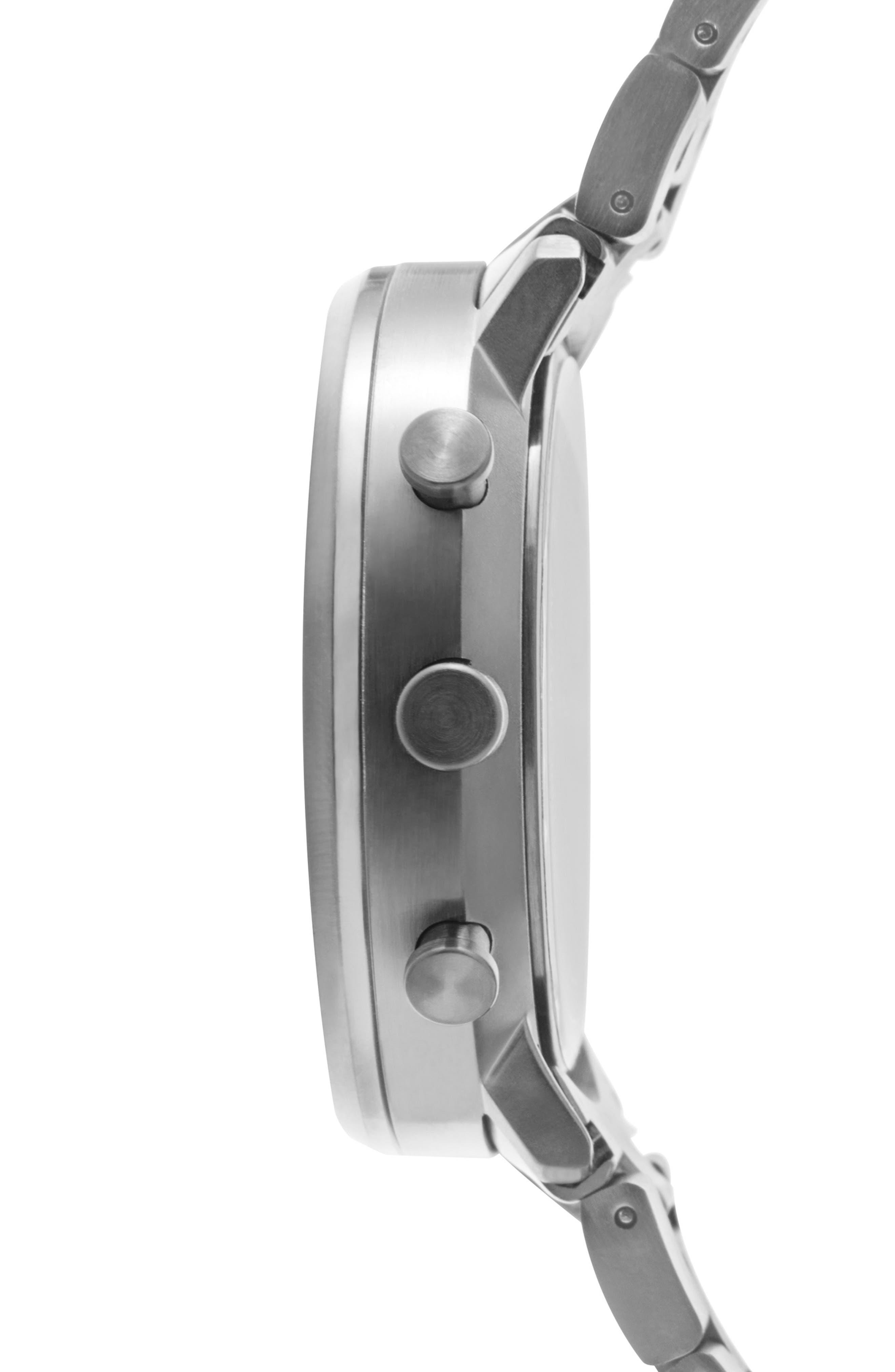 Leonard & Church Bleeker Chronograph Bracelet Watch, 40mm,                             Alternate thumbnail 4, color,                             Black