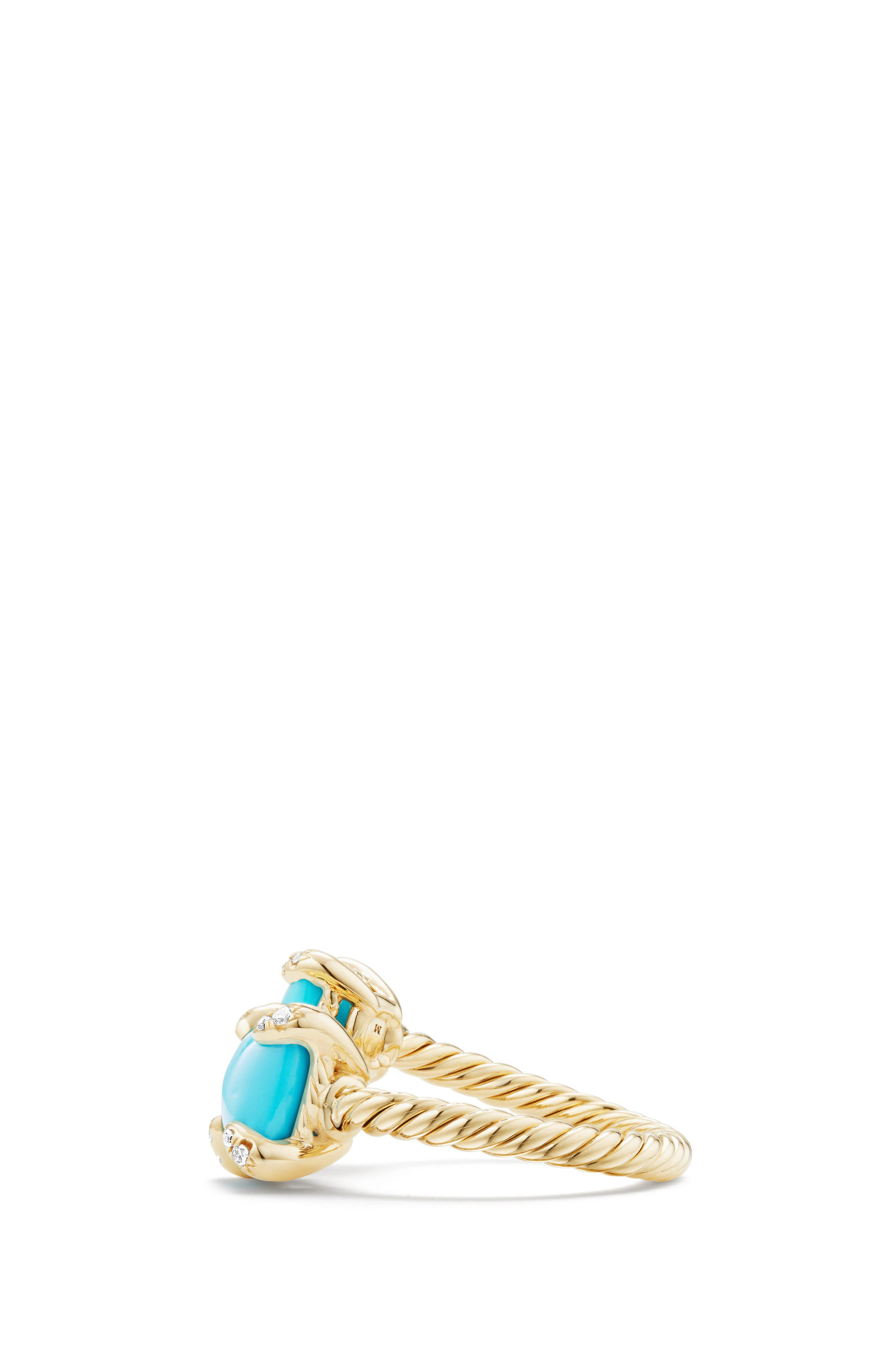 Chatelaine Bypass Diamond Ring,                             Alternate thumbnail 2, color,                             Turquoise
