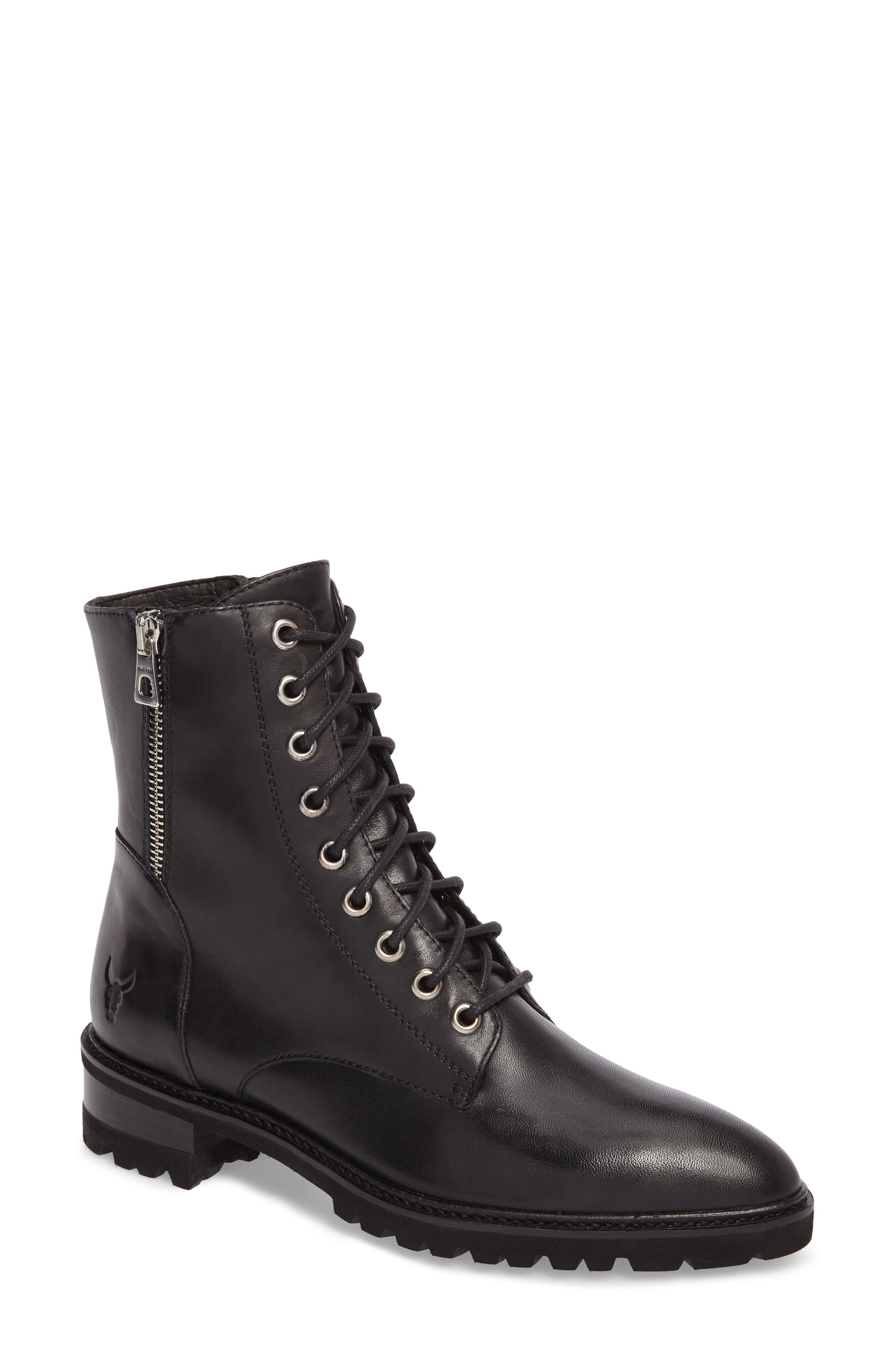 Tempt Boot,                         Main,                         color, Black Leather