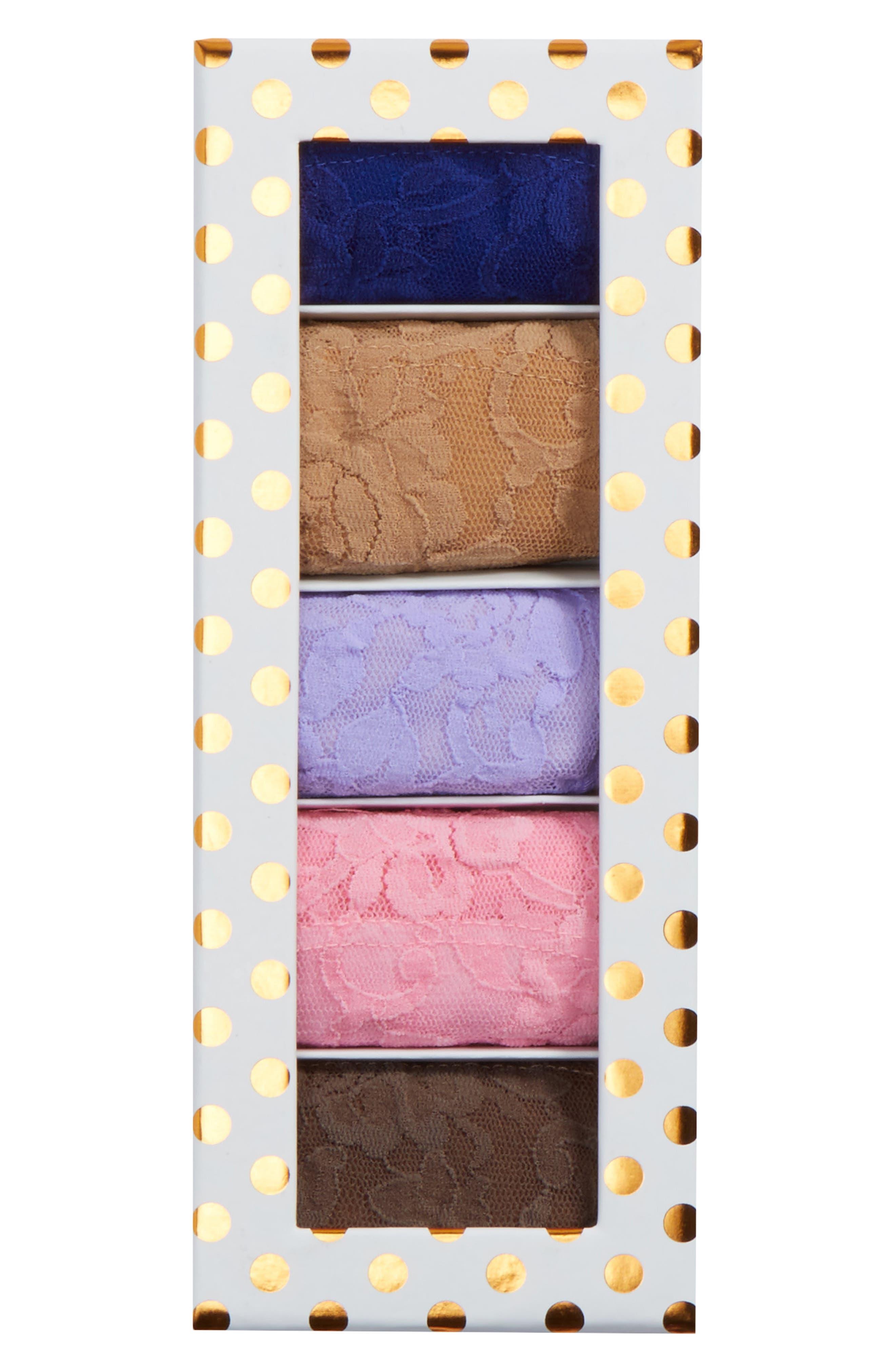 Dot 5-Pack Low Rise Thongs,                         Main,                         color, Lexington