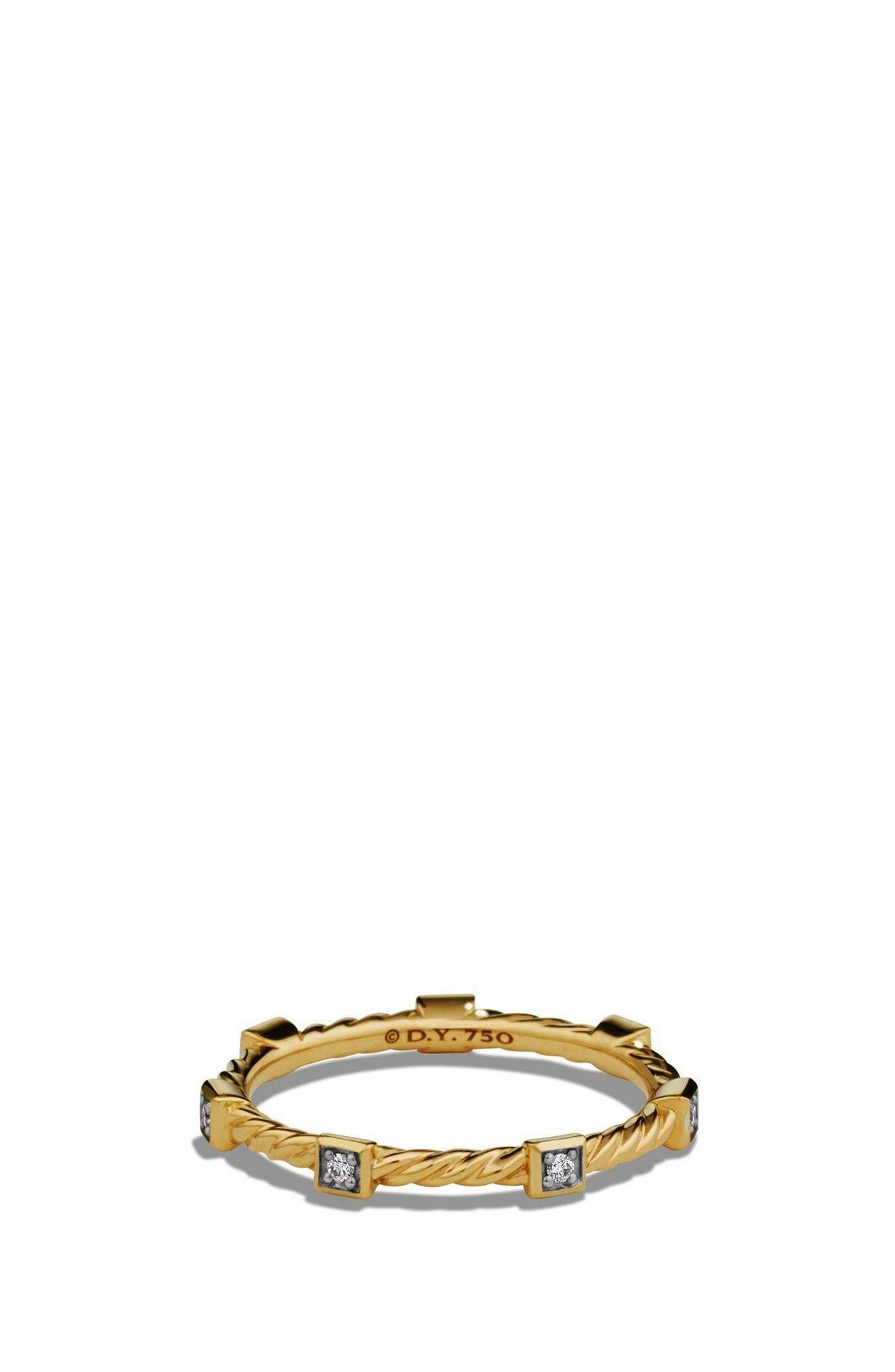 david yurman paveflex ring with diamonds in 18k gold 27mm
