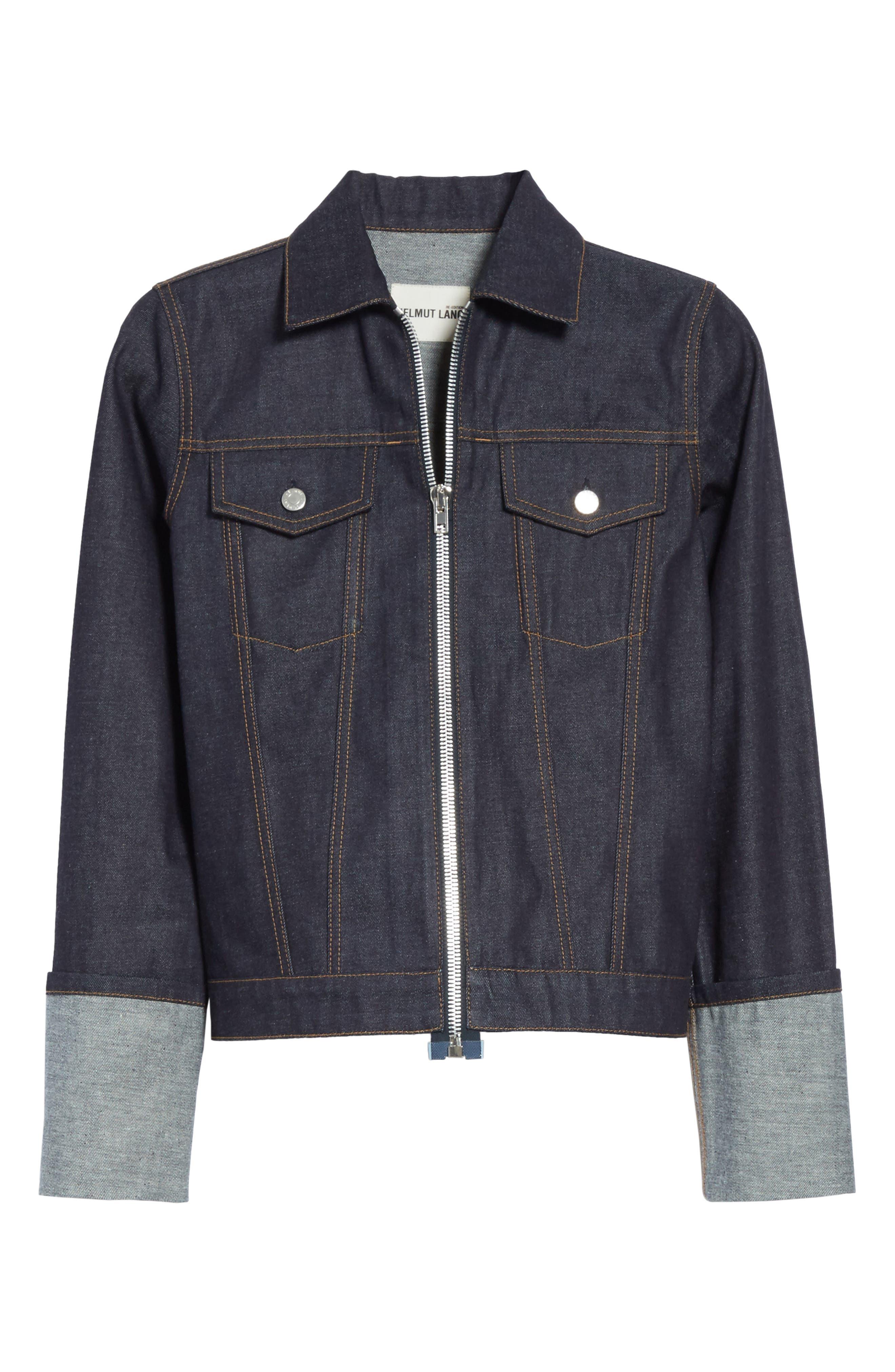 Re-Edition Zip Denim Jacket,                             Alternate thumbnail 7, color,                             Indigo