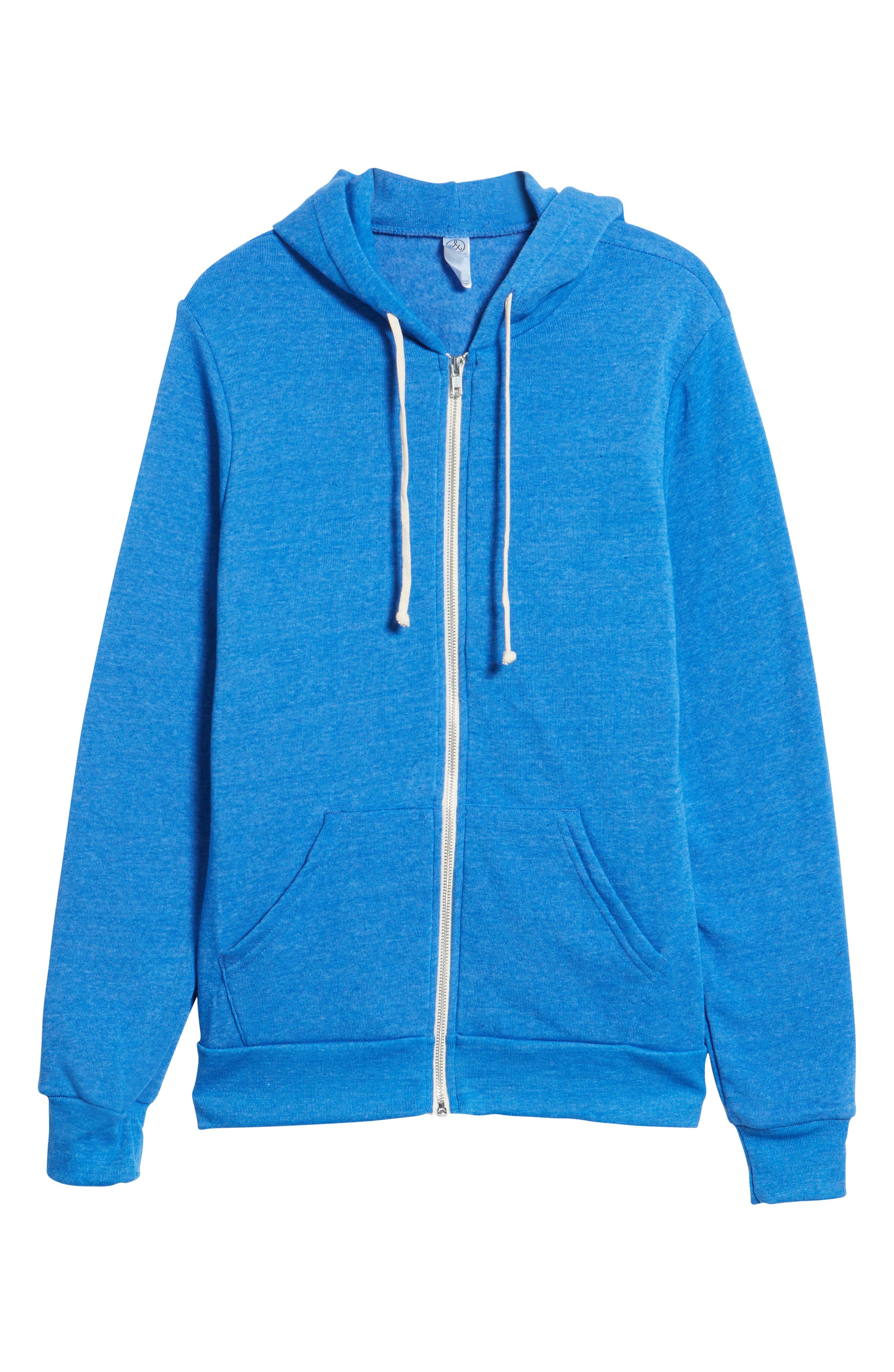 'Rocky' Trim Fit Hoodie,                             Alternate thumbnail 6, color,                             Eco True Pacific Blue