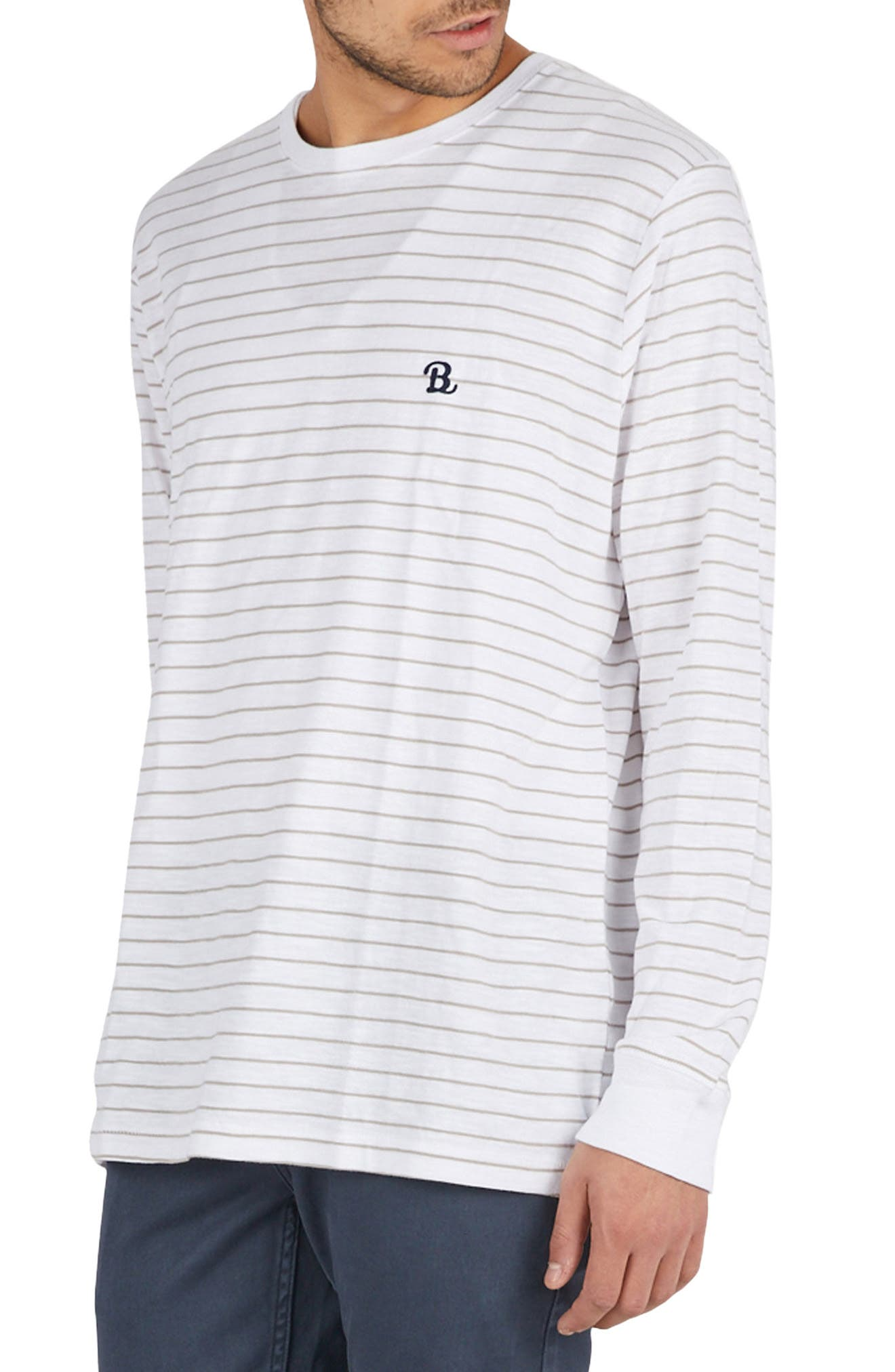 B. Schooled T-Shirt,                             Alternate thumbnail 3, color,                             Beige Stripe