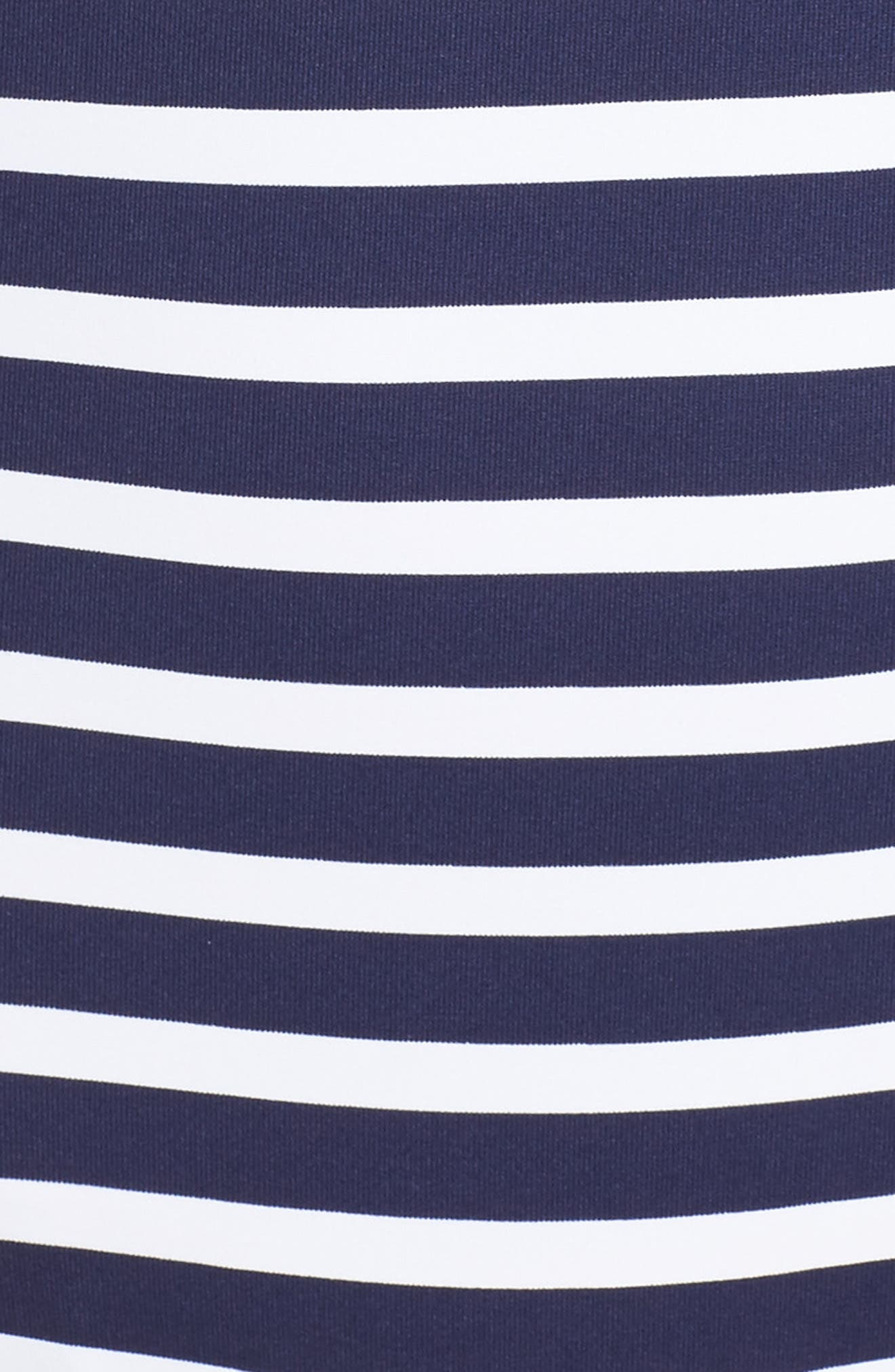 Breton Stripe One-Piece Swimsuit,                             Alternate thumbnail 5, color,                             Mare Navy/ White