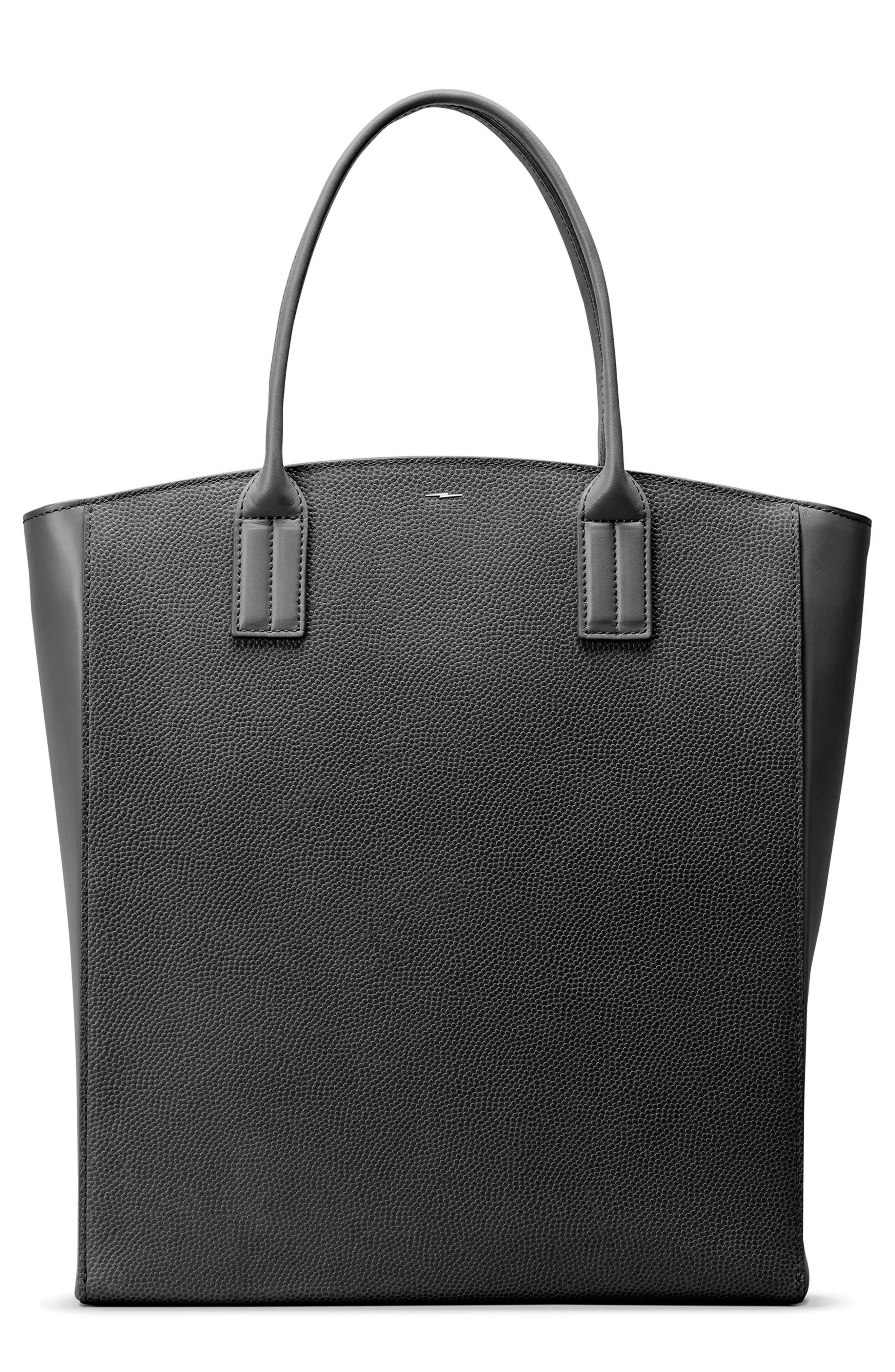 Latigo Leather Tote,                             Main thumbnail 1, color,                             Black