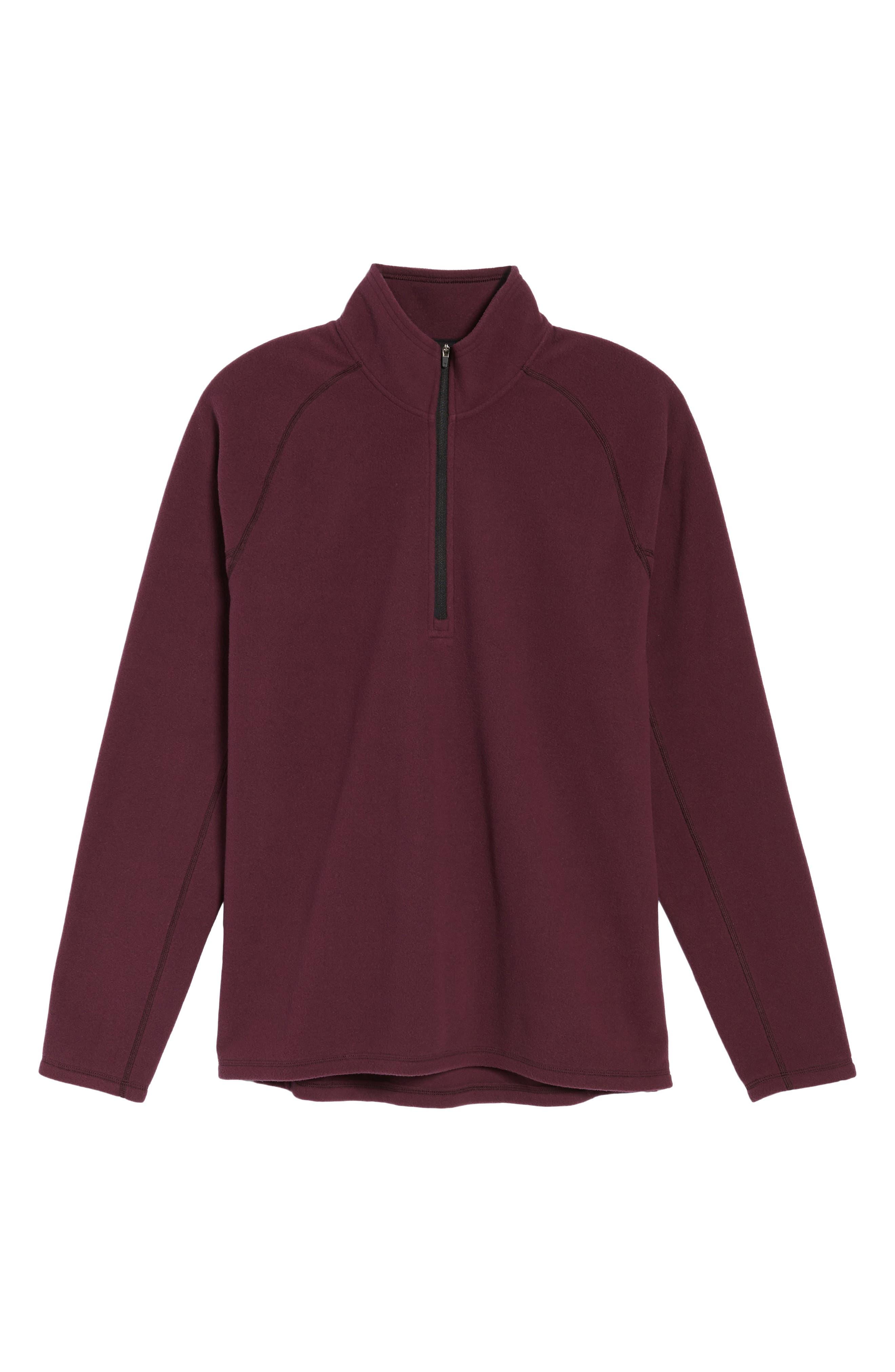 Alternate Image 6  - Zella Quarter Zip Fleece Pullover