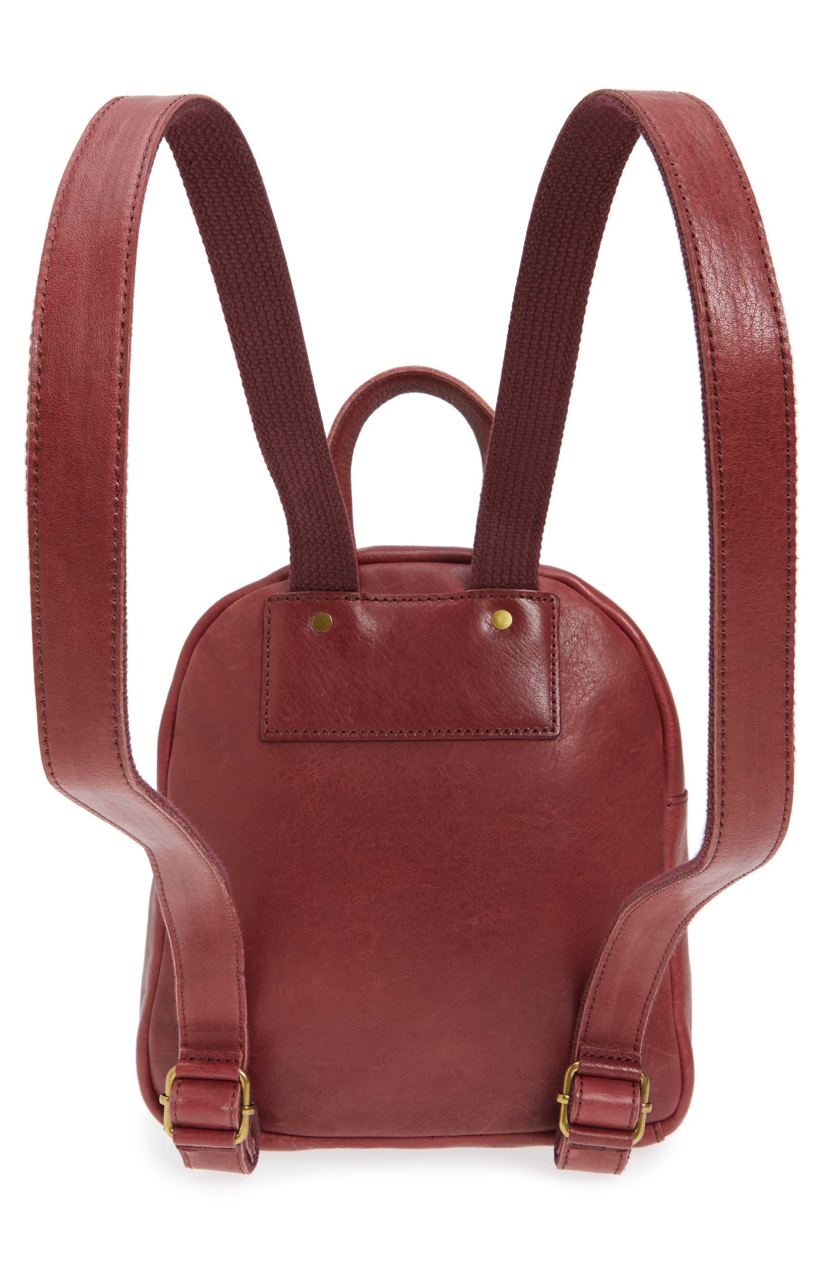 Alternate Image 3  - Madewell Mini Lorimer Leather Backpack