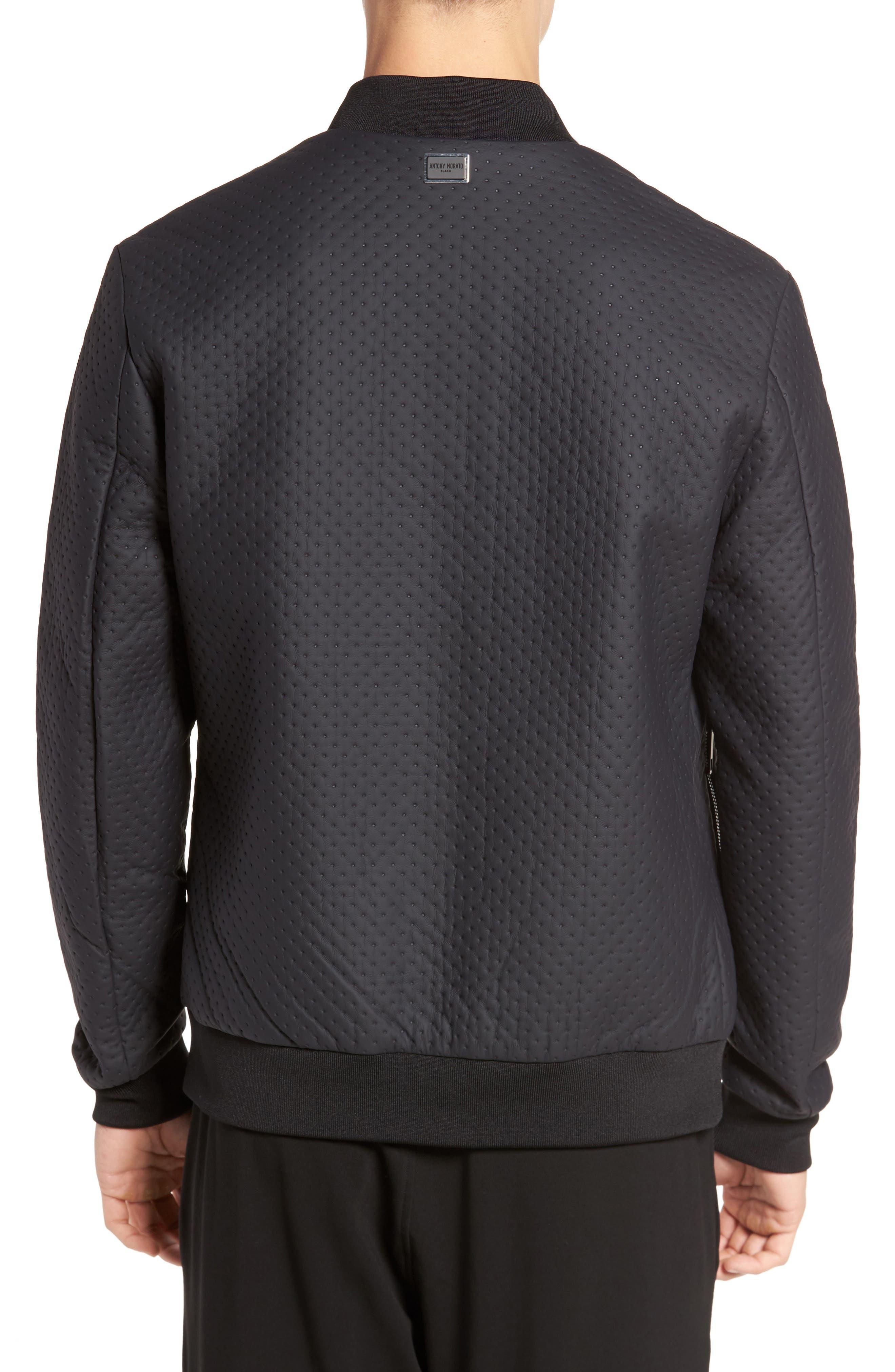 Faux Leather Jacket,                             Alternate thumbnail 2, color,                             Loud Blue