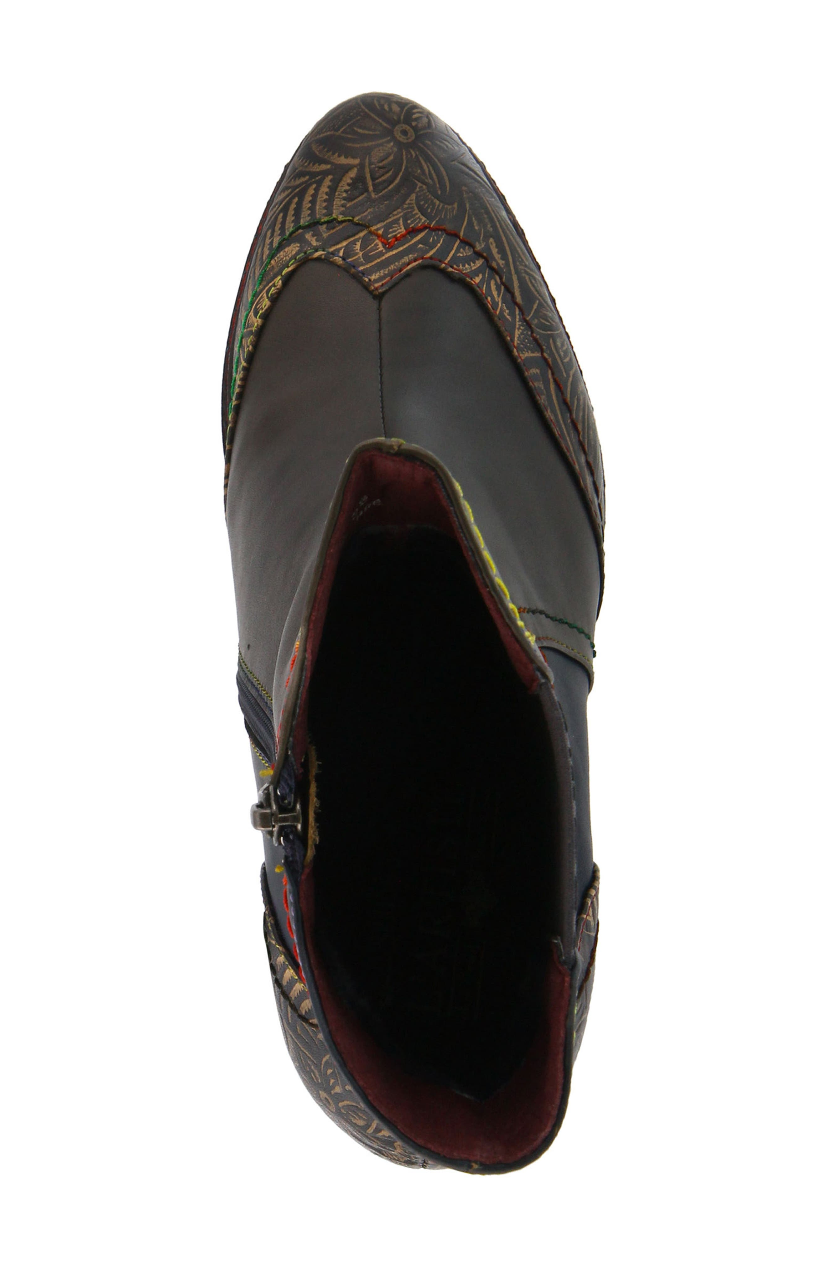 L'Artiste Santana Boot,                             Alternate thumbnail 4, color,                             Olive Green Leather