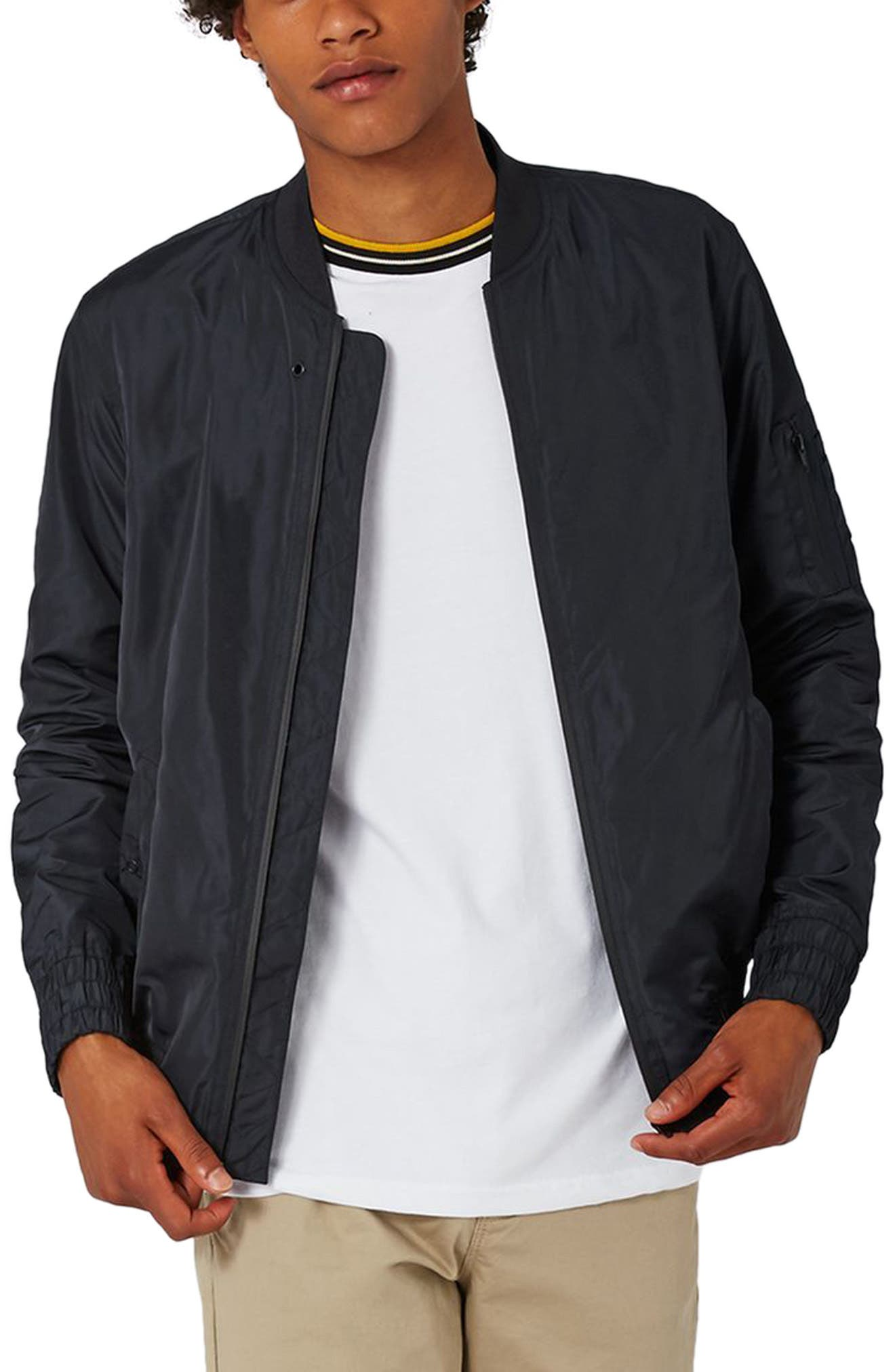Lightweight Bomber Jacket,                             Main thumbnail 1, color,                             Navy Blue