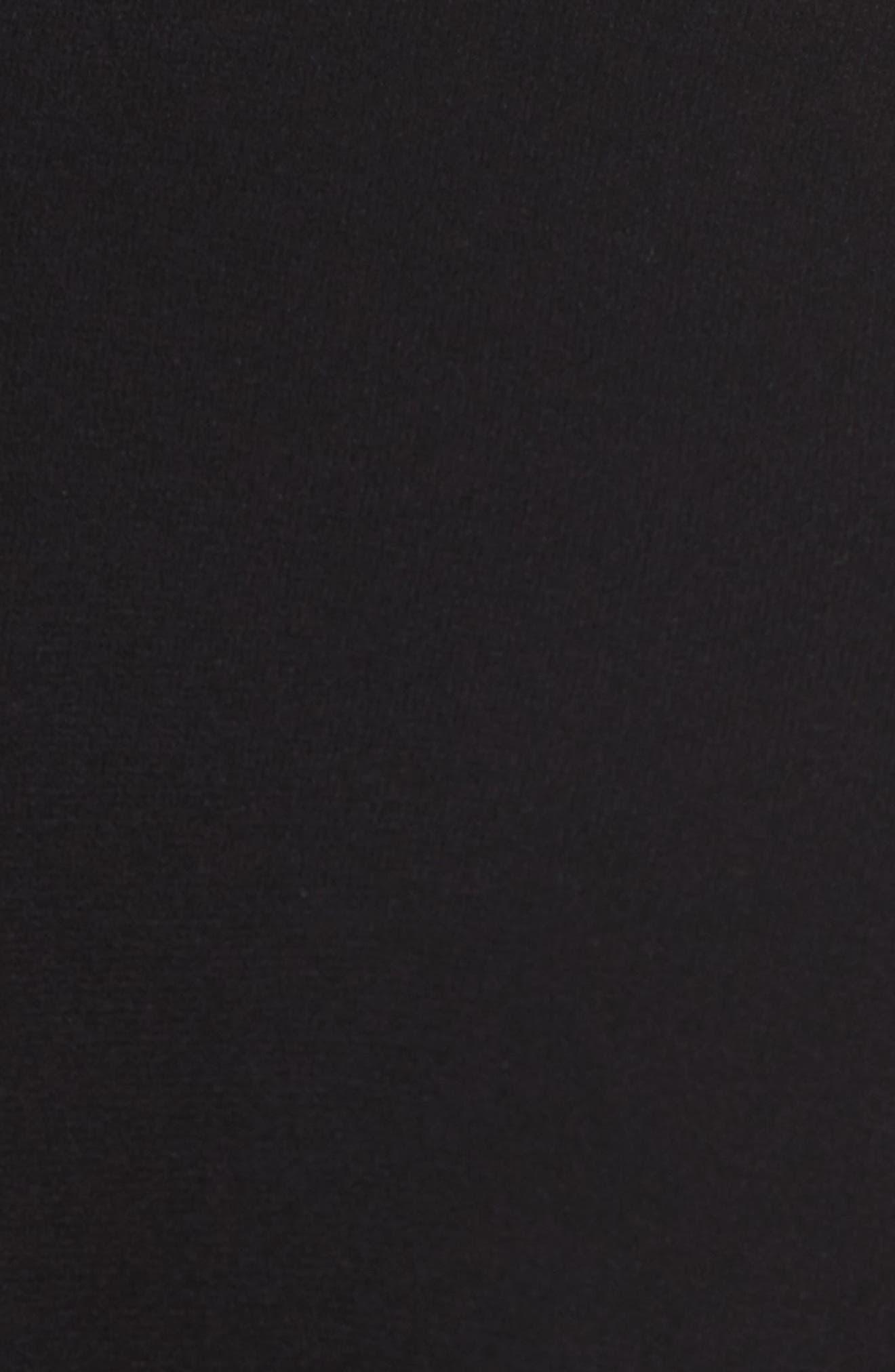 Turtleneck Tie Blouse,                             Alternate thumbnail 5, color,                             Black