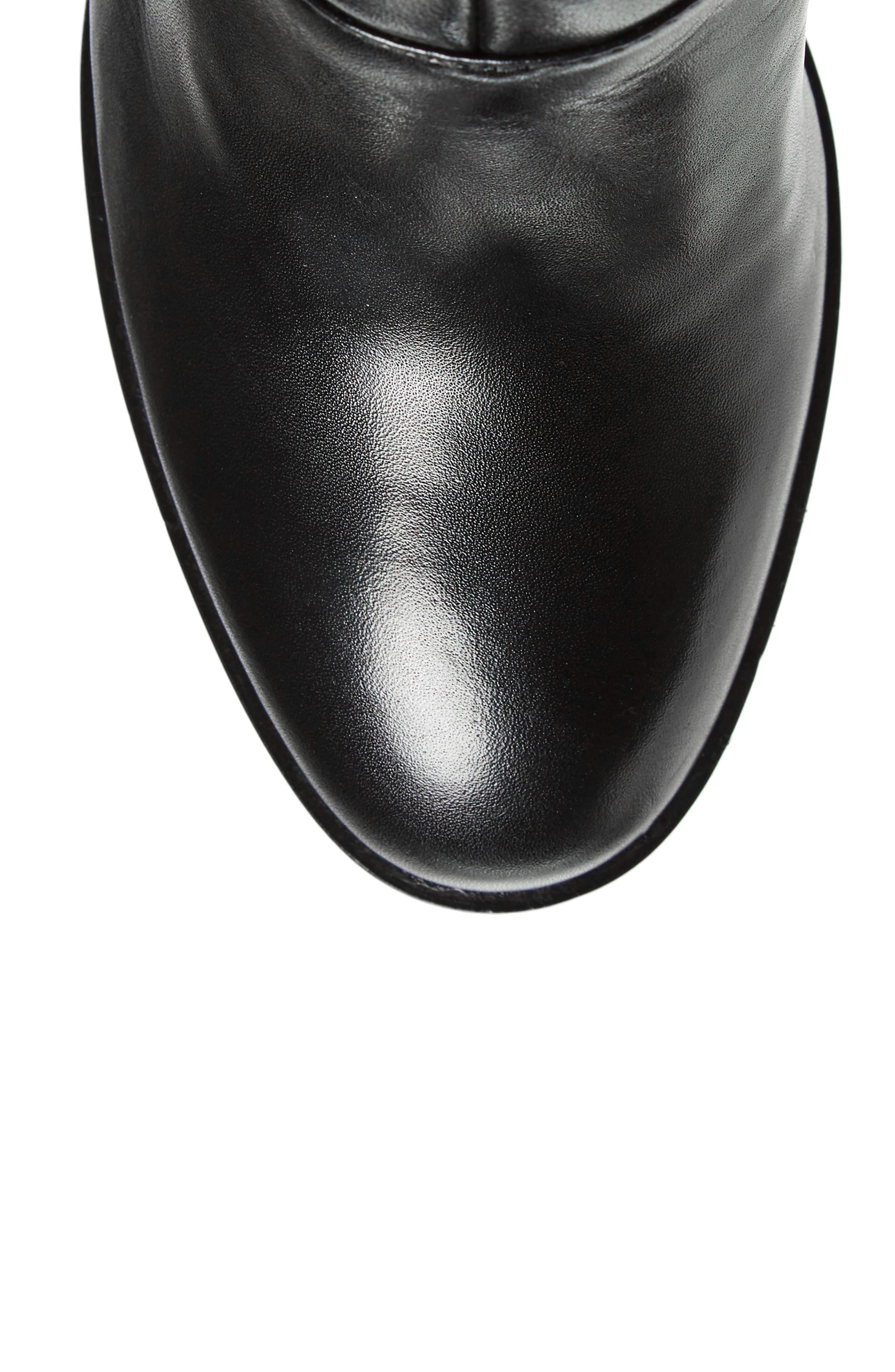 Tropia Knee High Boot,                             Alternate thumbnail 5, color,                             Black Leather