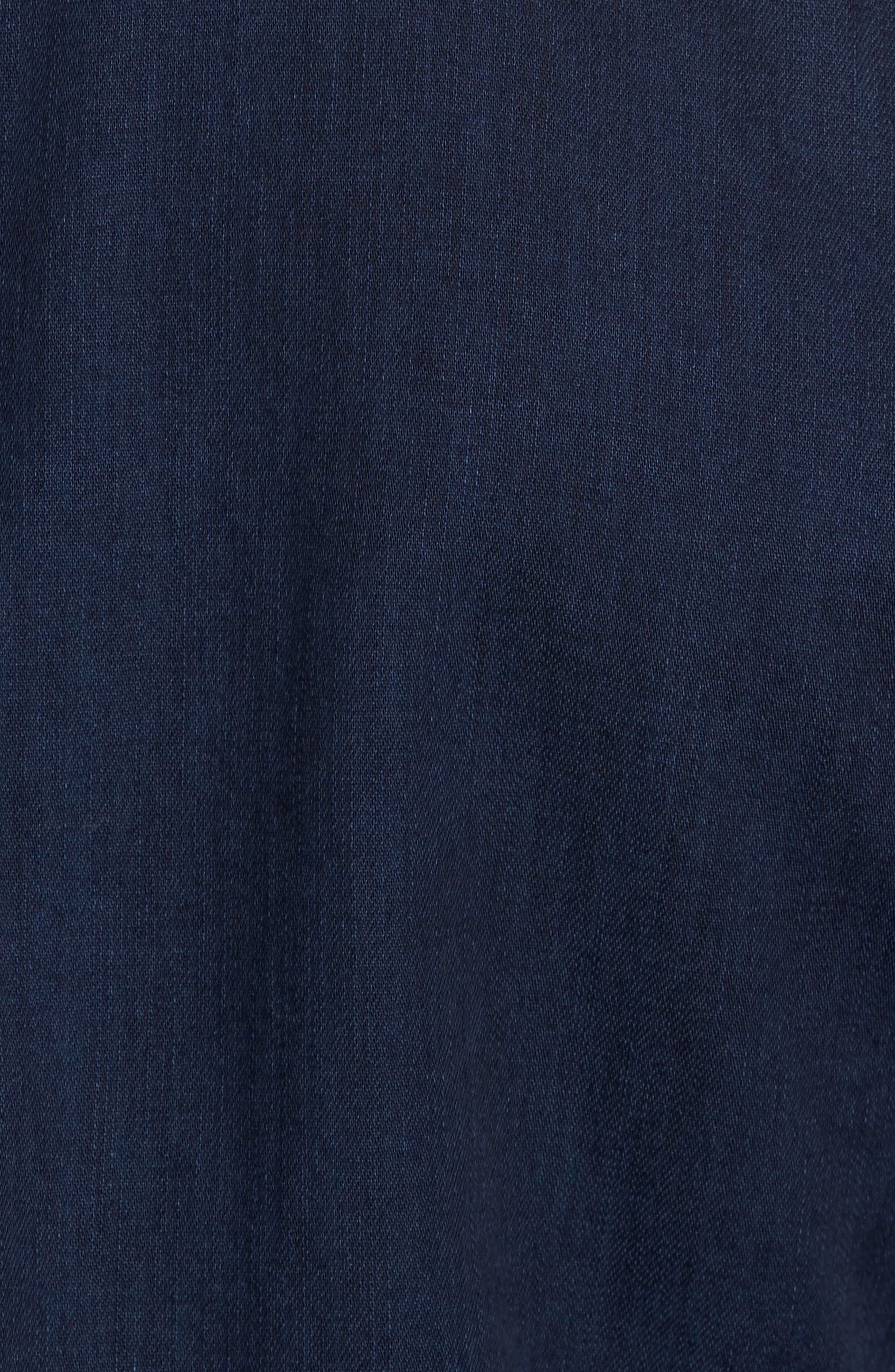 Pocketless Western Denim Shirt,                             Alternate thumbnail 5, color,                             Midnight
