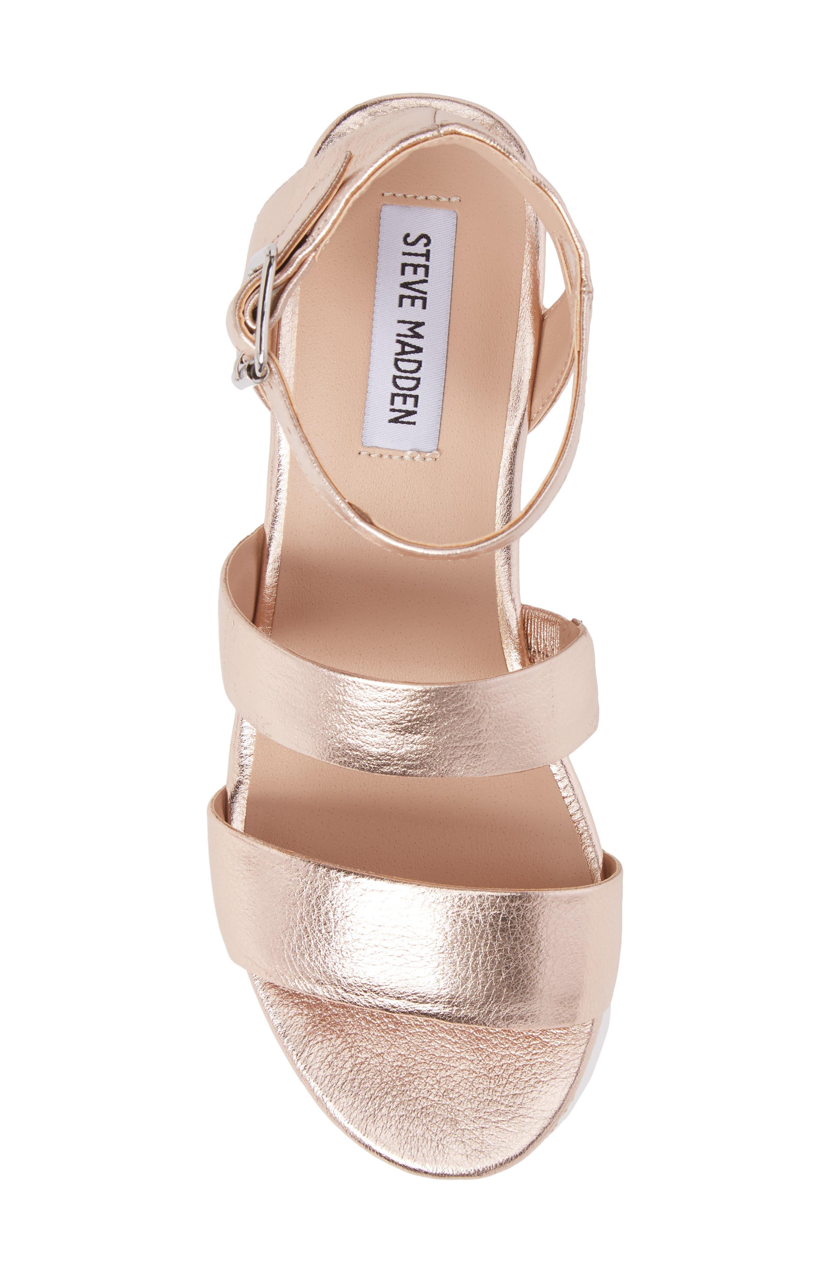 Kirsten Layered Platform Sandal,                             Alternate thumbnail 5, color,                             Rose Leather