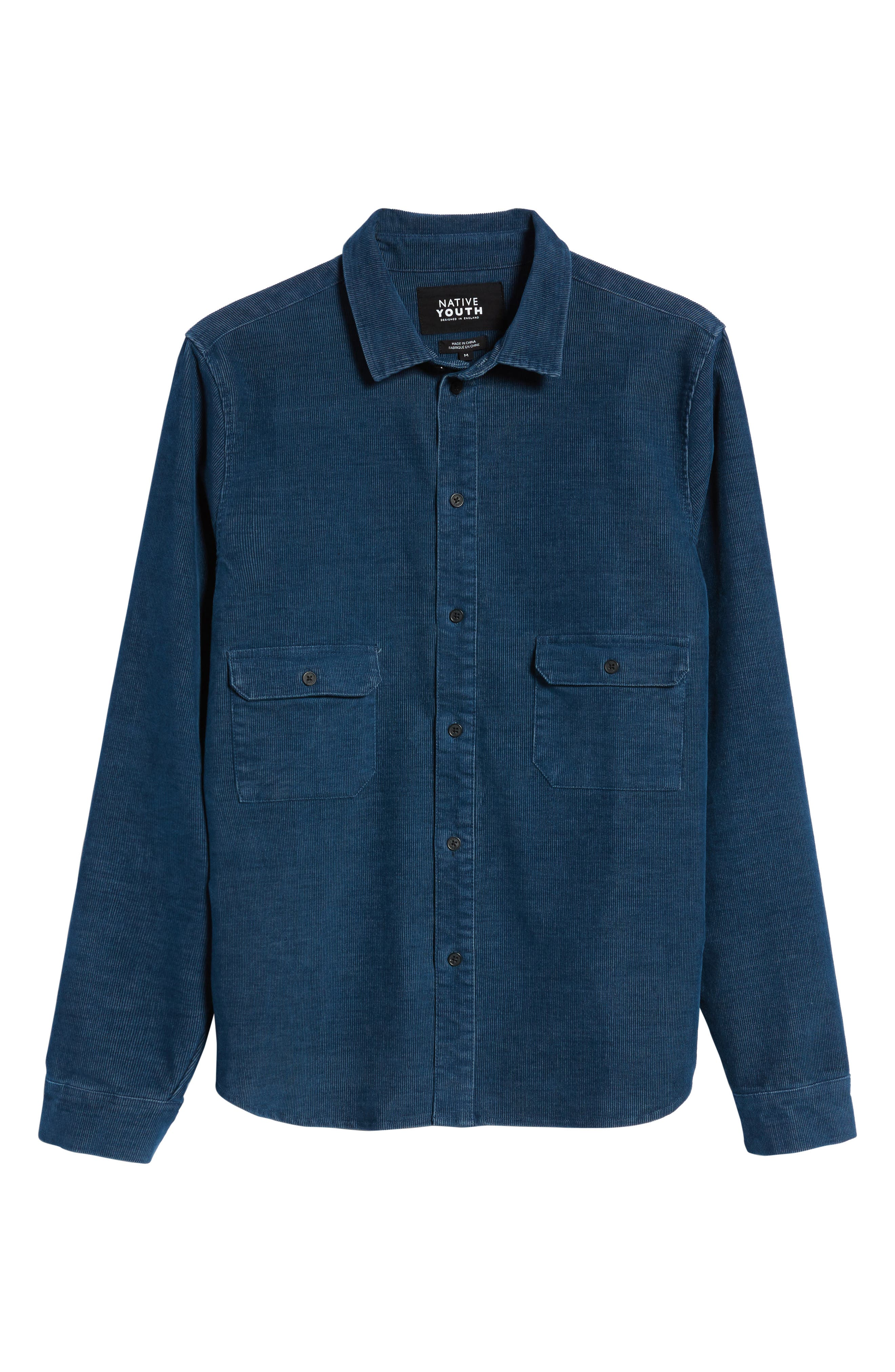 Cheriton Corduroy Shirt,                             Alternate thumbnail 6, color,                             Blue