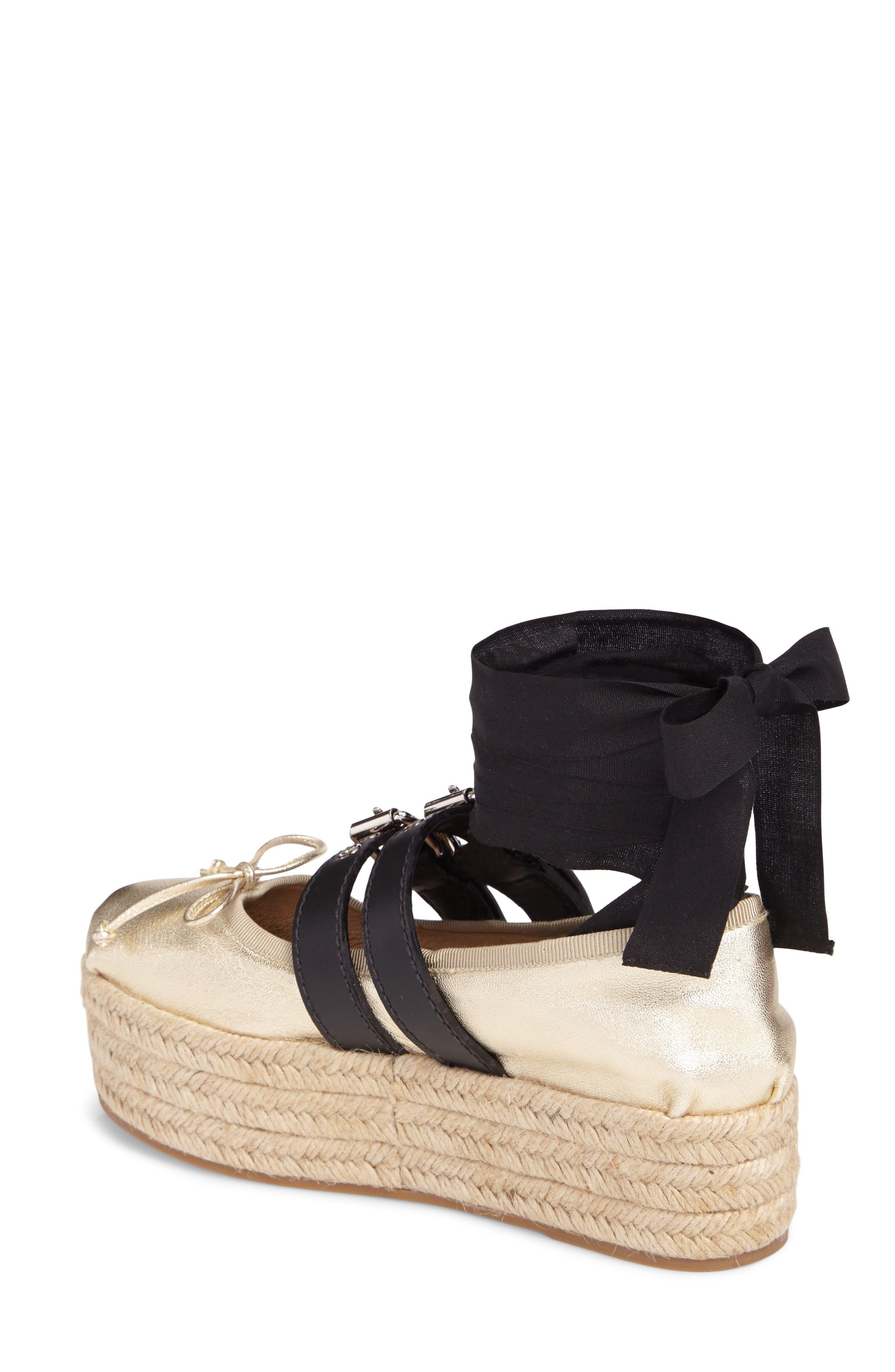 Alternate Image 2  - Miu Miu Ankle Wrap Platform Espadrille (Women)