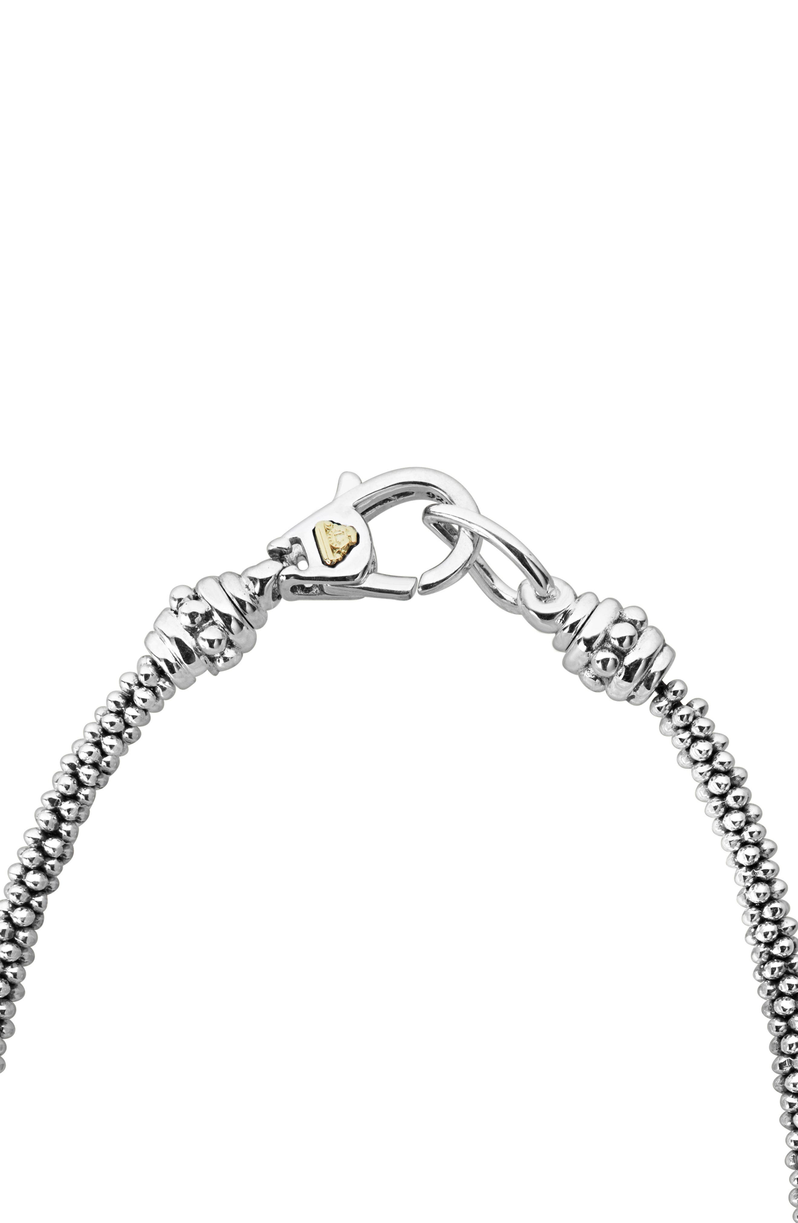 Lux Diamond Rope Necklace,                             Alternate thumbnail 4, color,                             Silver/ Diamond
