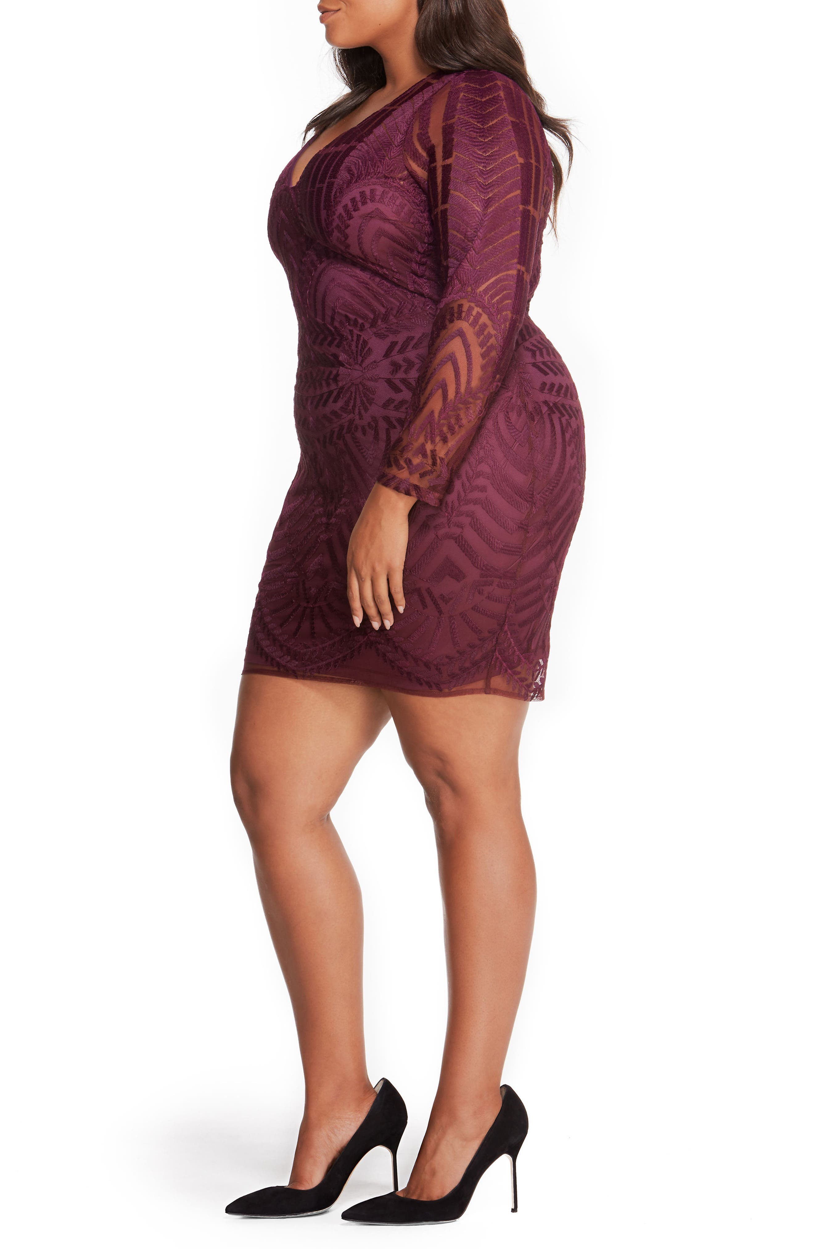 Alternate Image 3  - Rebel Wilson x Angels Embroidered Mesh Dress (Plus Size)