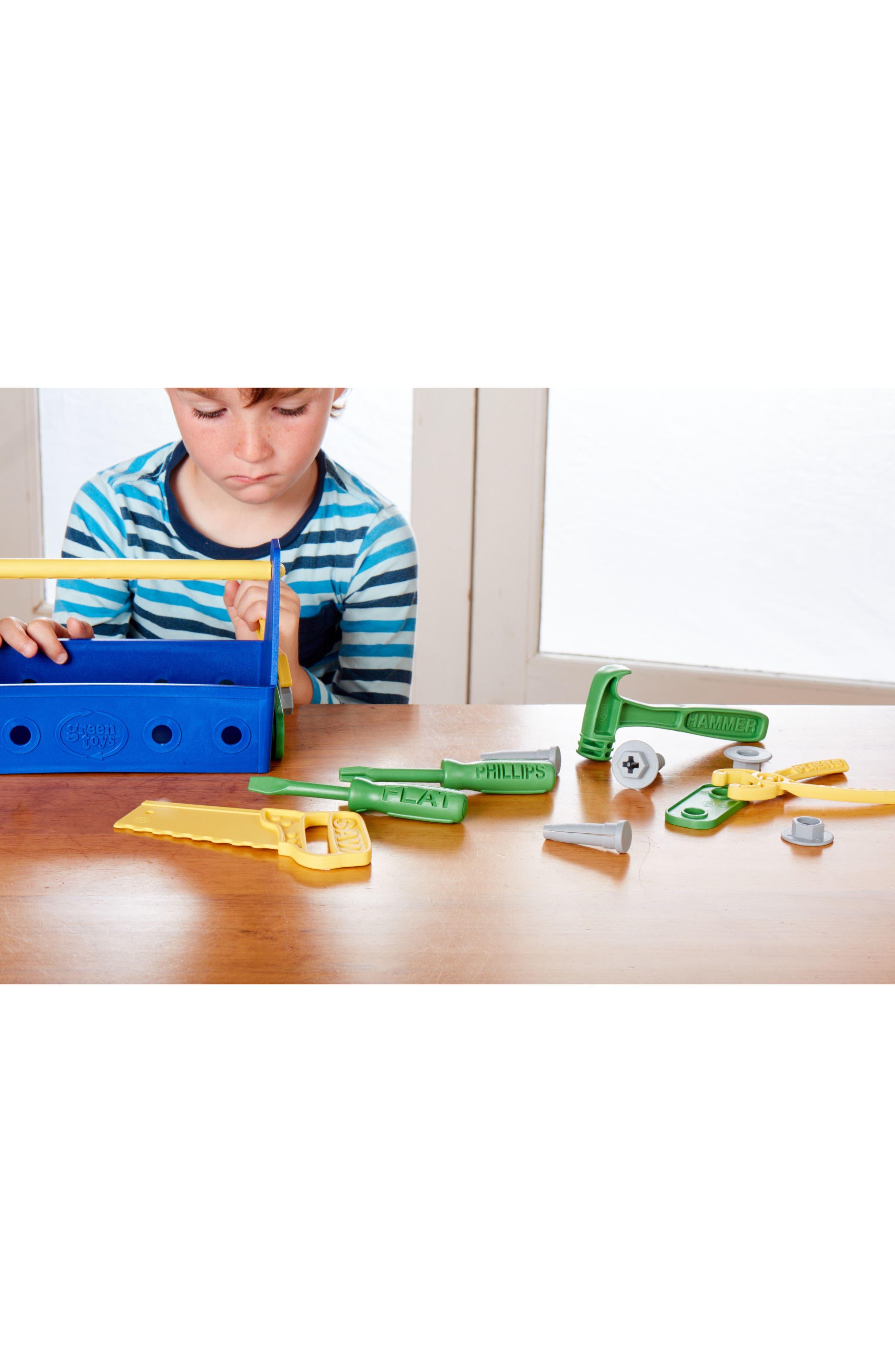 15-Piece Plastic Tool Set,                             Alternate thumbnail 3, color,                             Blue