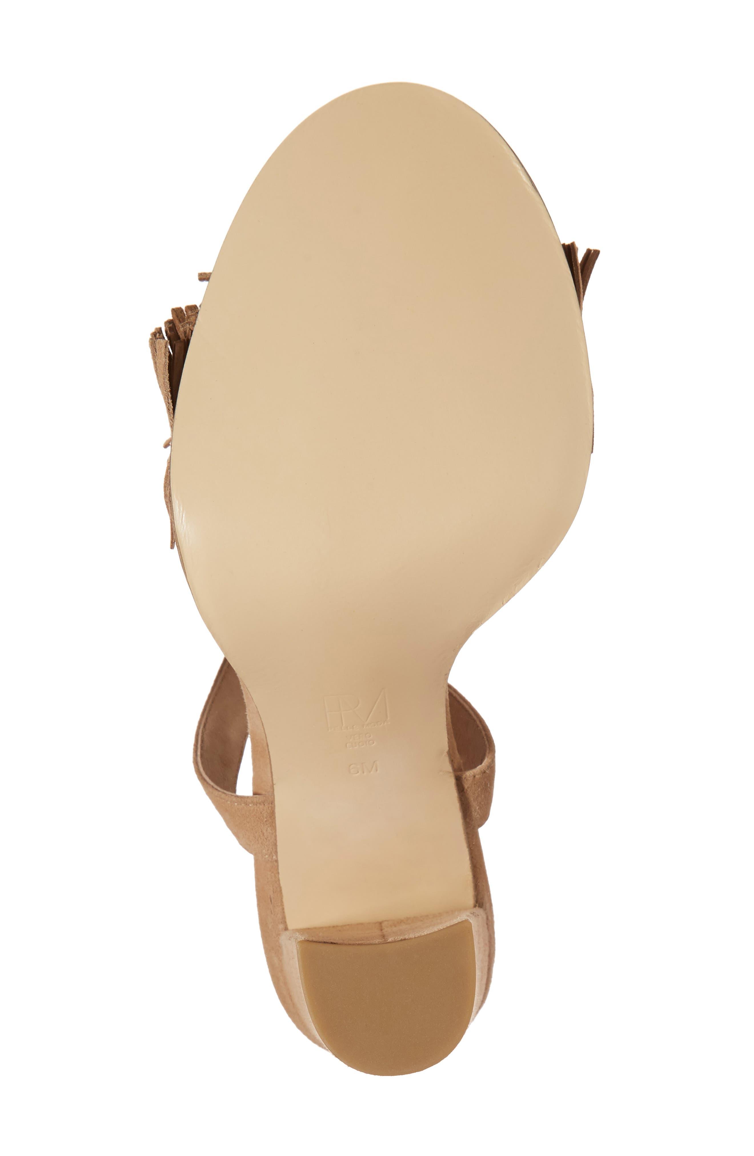 Faye Sandal,                             Alternate thumbnail 6, color,                             Latte Leather