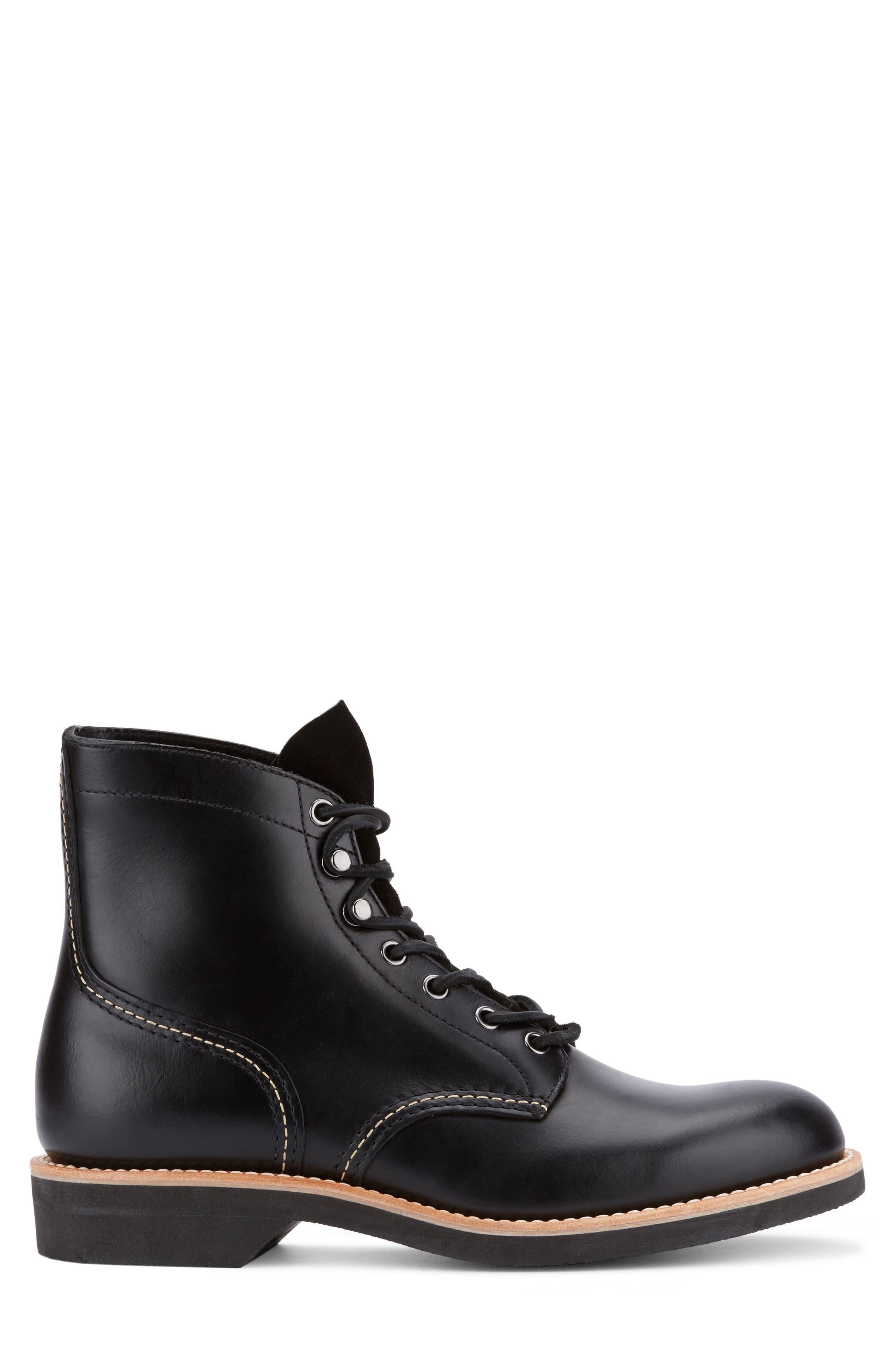 Reid Plain Toe Boot,                             Alternate thumbnail 3, color,                             Black