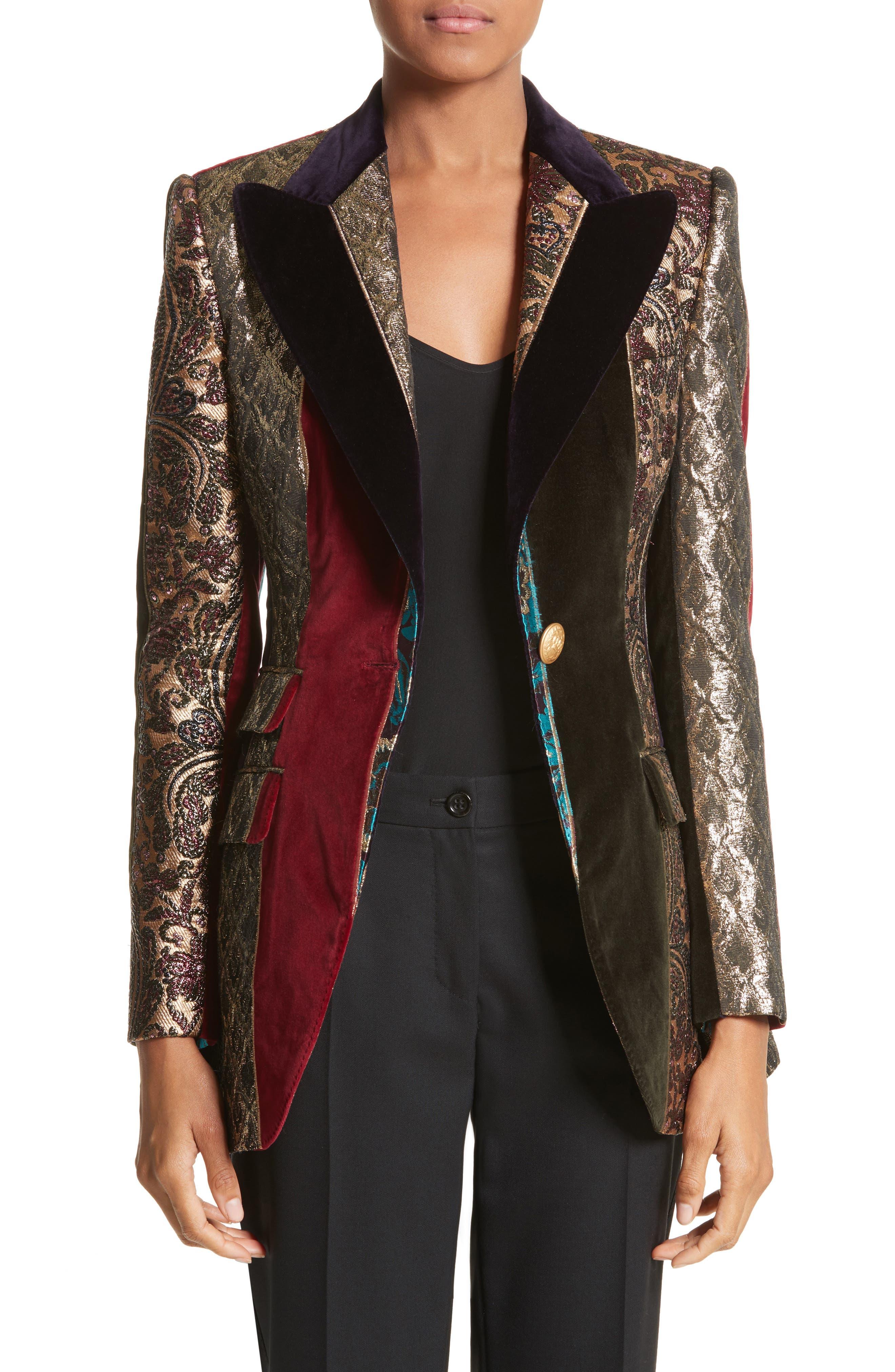 Dolce&Gabbana Velvet & Jacquard Patchwork Jacket
