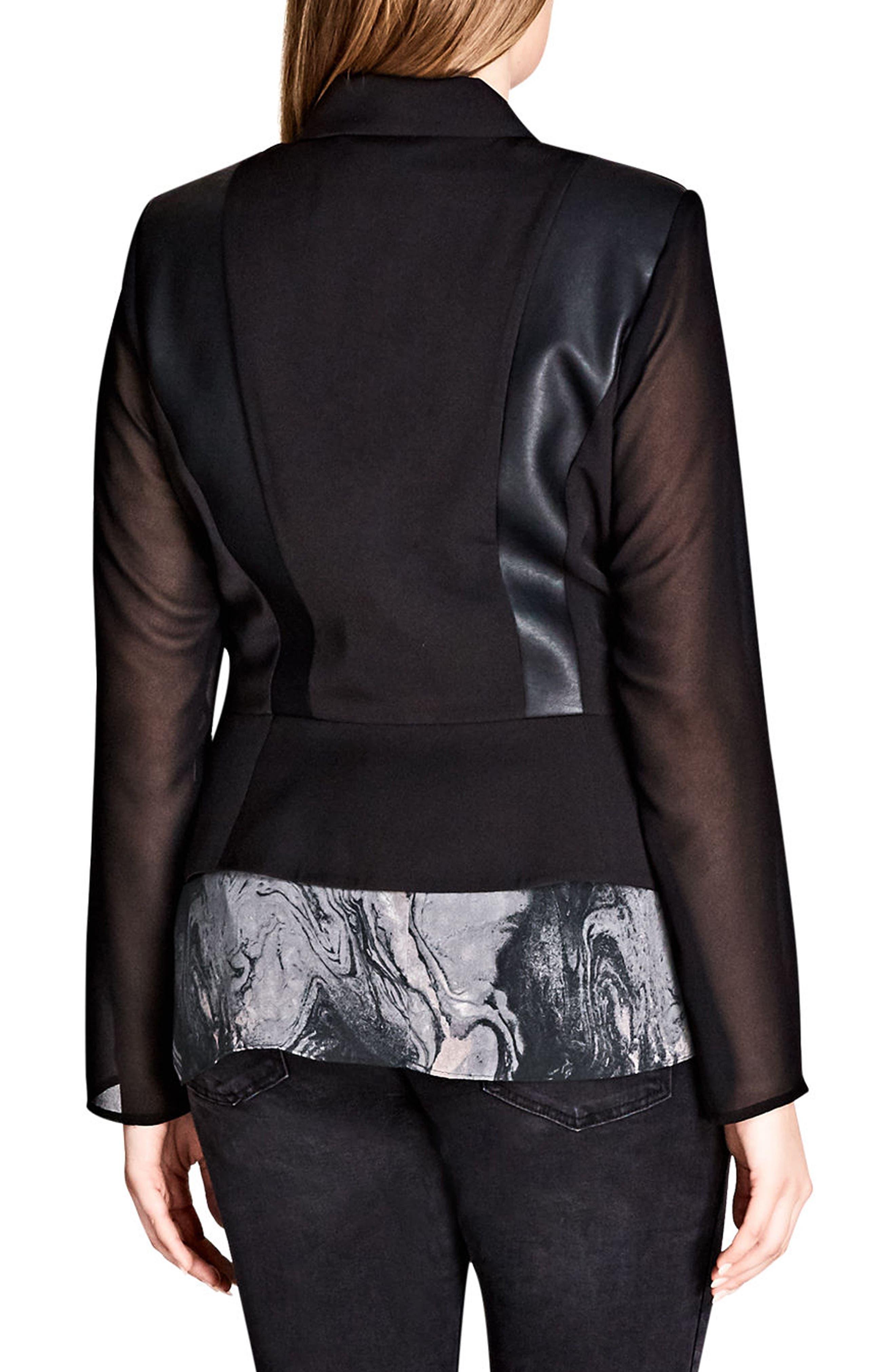 Sharp & Sheer Jacket,                             Alternate thumbnail 2, color,                             Black